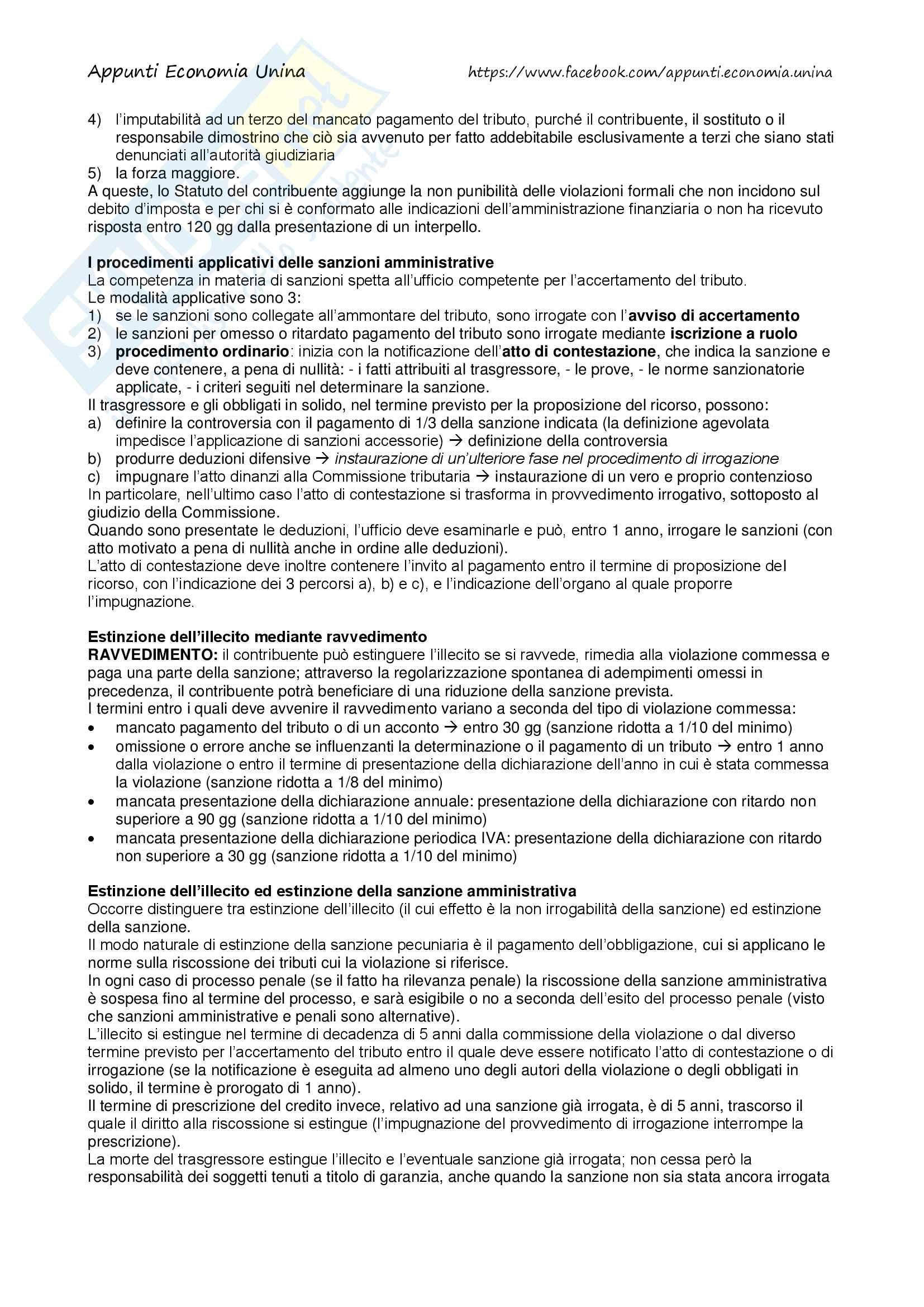 Riassunto esame di Diritto Tributario, libro consigliato Compendio Tesauro 2016 Pag. 61