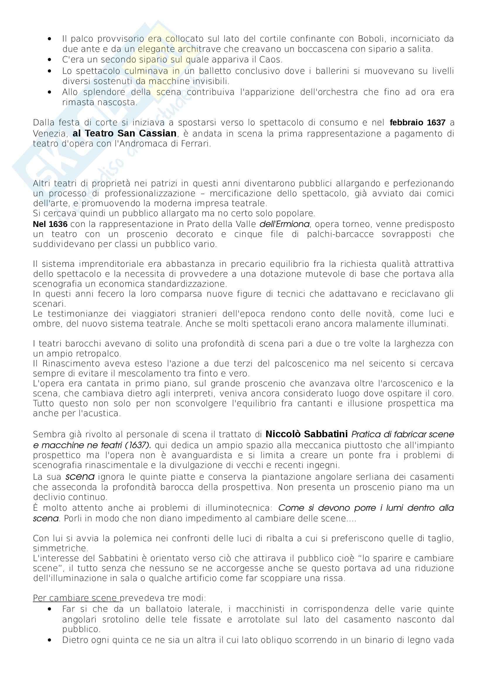 Riassunto esame scenografia, prof. Tamburini, libro consigliato Storia della Scenografia, dall'antichità al XXI Secolo, Perrelli Pag. 11