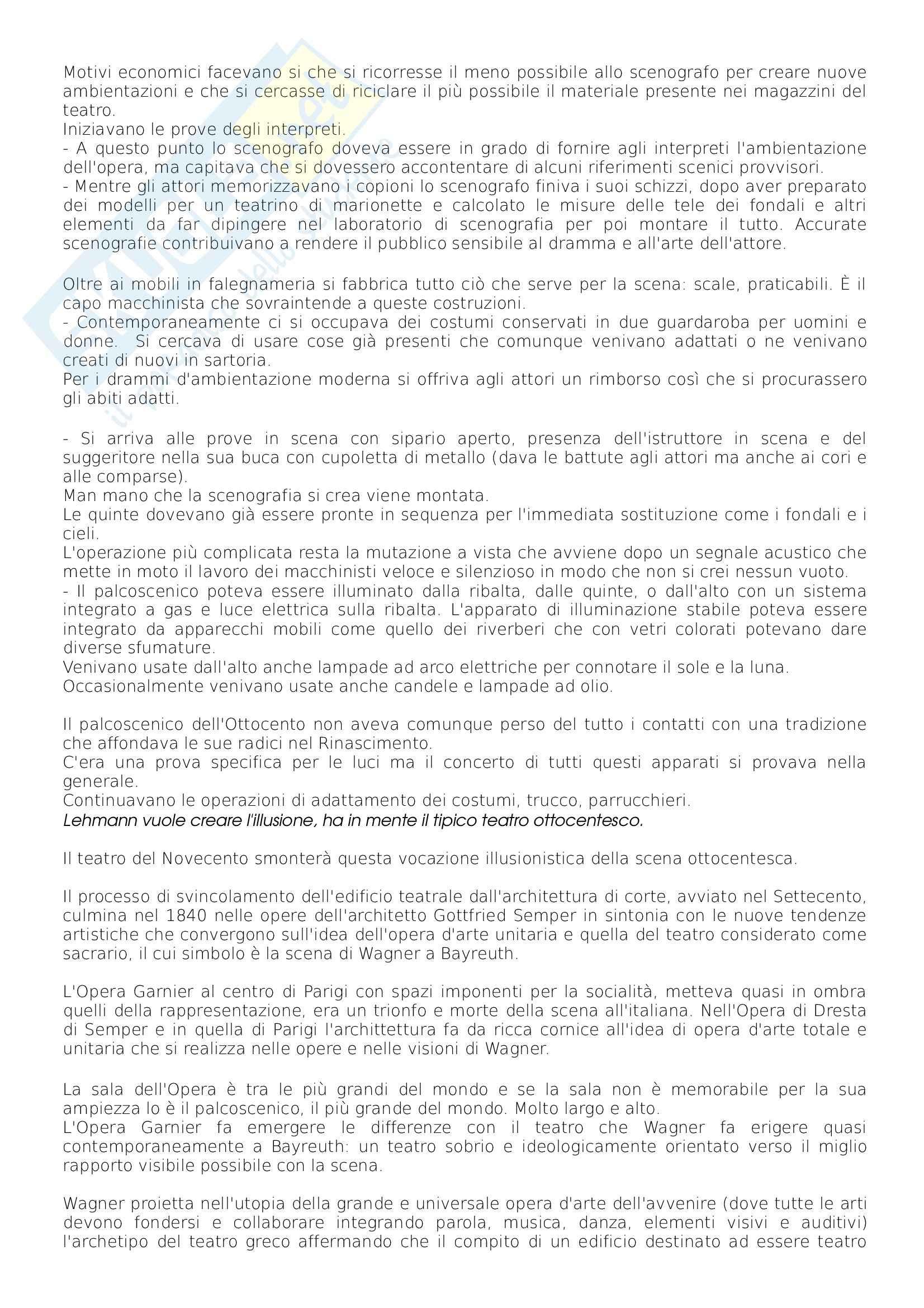 Riassunto esame scenografia, prof. Tamburini, libro consigliato Storia della Scenografia, dall'antichità al XXI Secolo, Perrelli Pag. 16