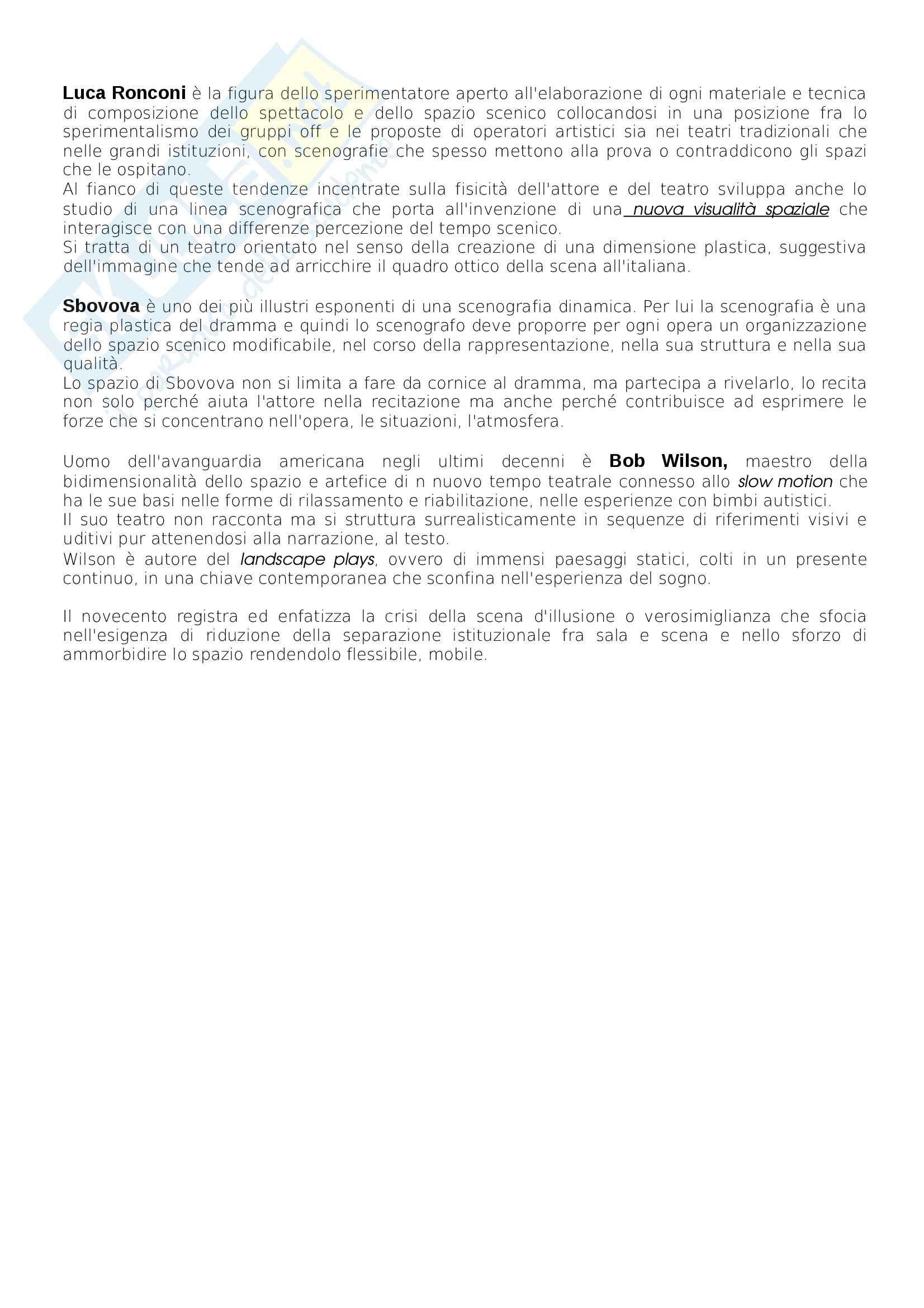 Riassunto esame scenografia, prof. Tamburini, libro consigliato Storia della Scenografia, dall'antichità al XXI Secolo, Perrelli Pag. 21