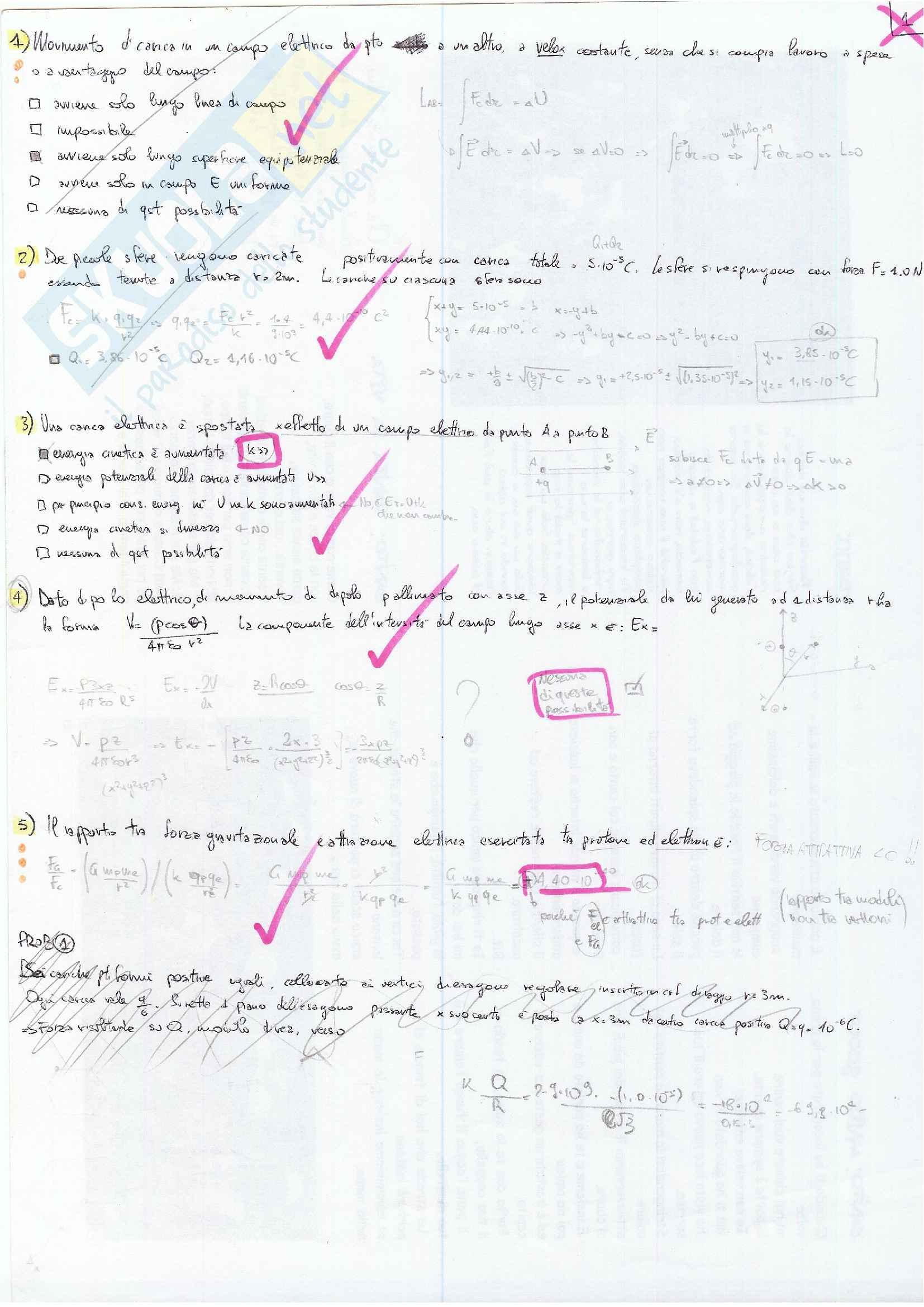 Esercizi svolti esame laboratorio di fisica 2 Pag. 1