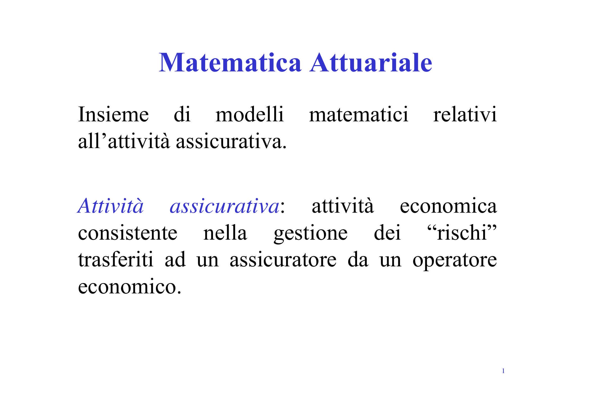 Matematica attuariale