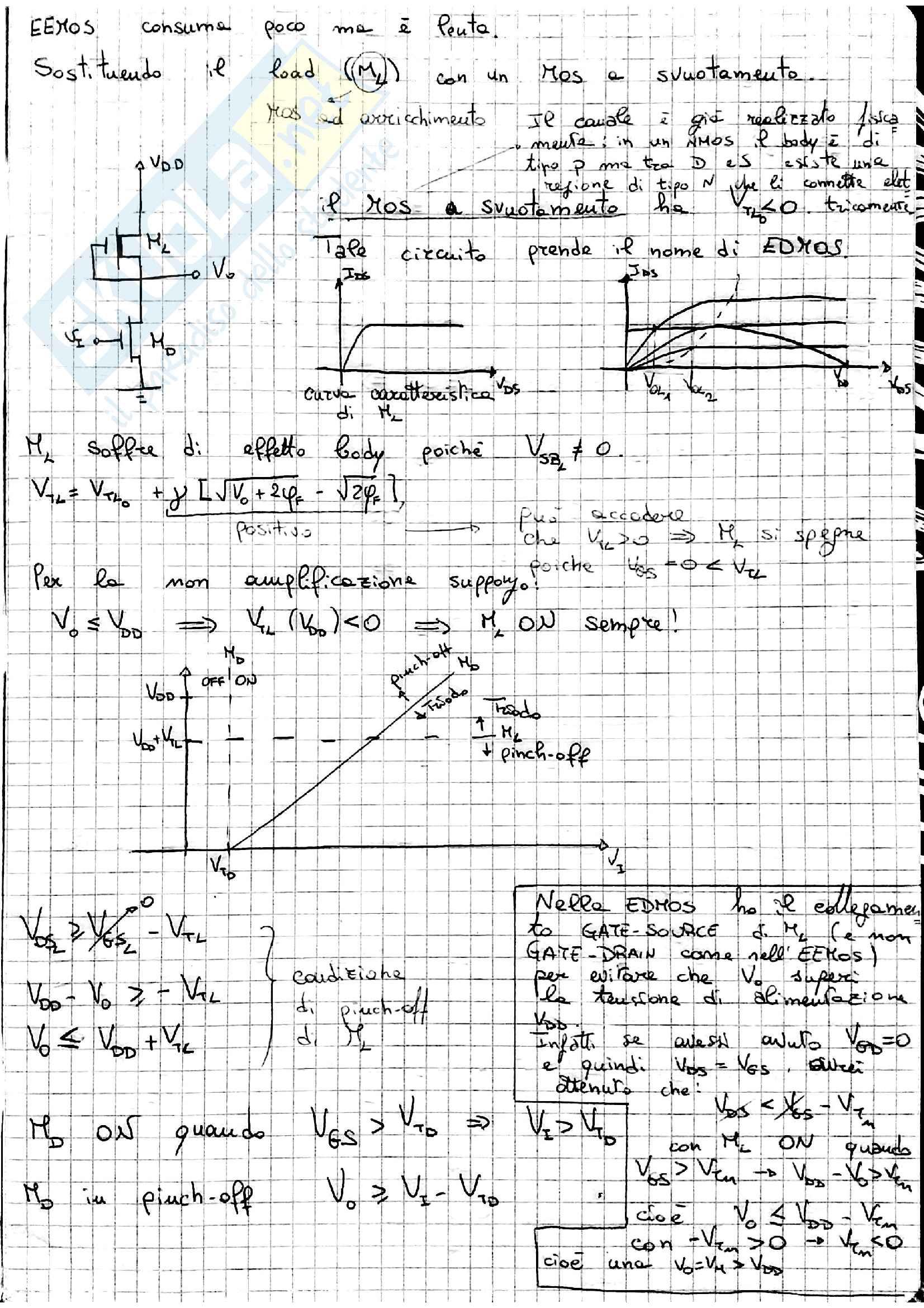 Appunti ED:EDMOS+Circuiti logici CMOS FCMOS, parte II