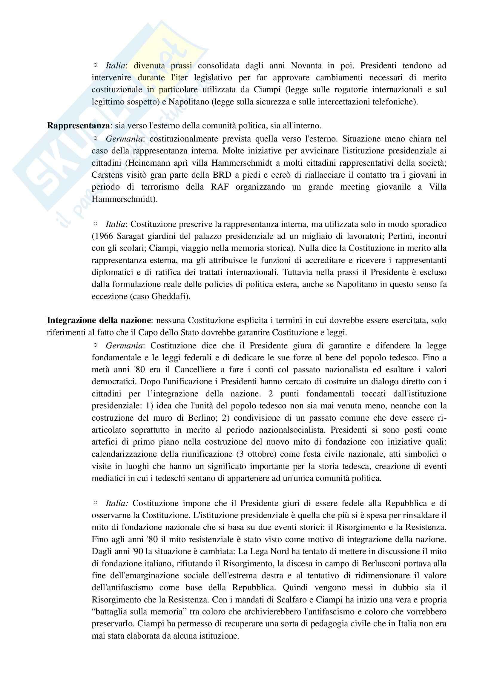 Riassunto esame Scienza Politica, prof. Riccamboni, libro consigliato I Presidenti nelle Forme di Governo di Grimaldi Pag. 16