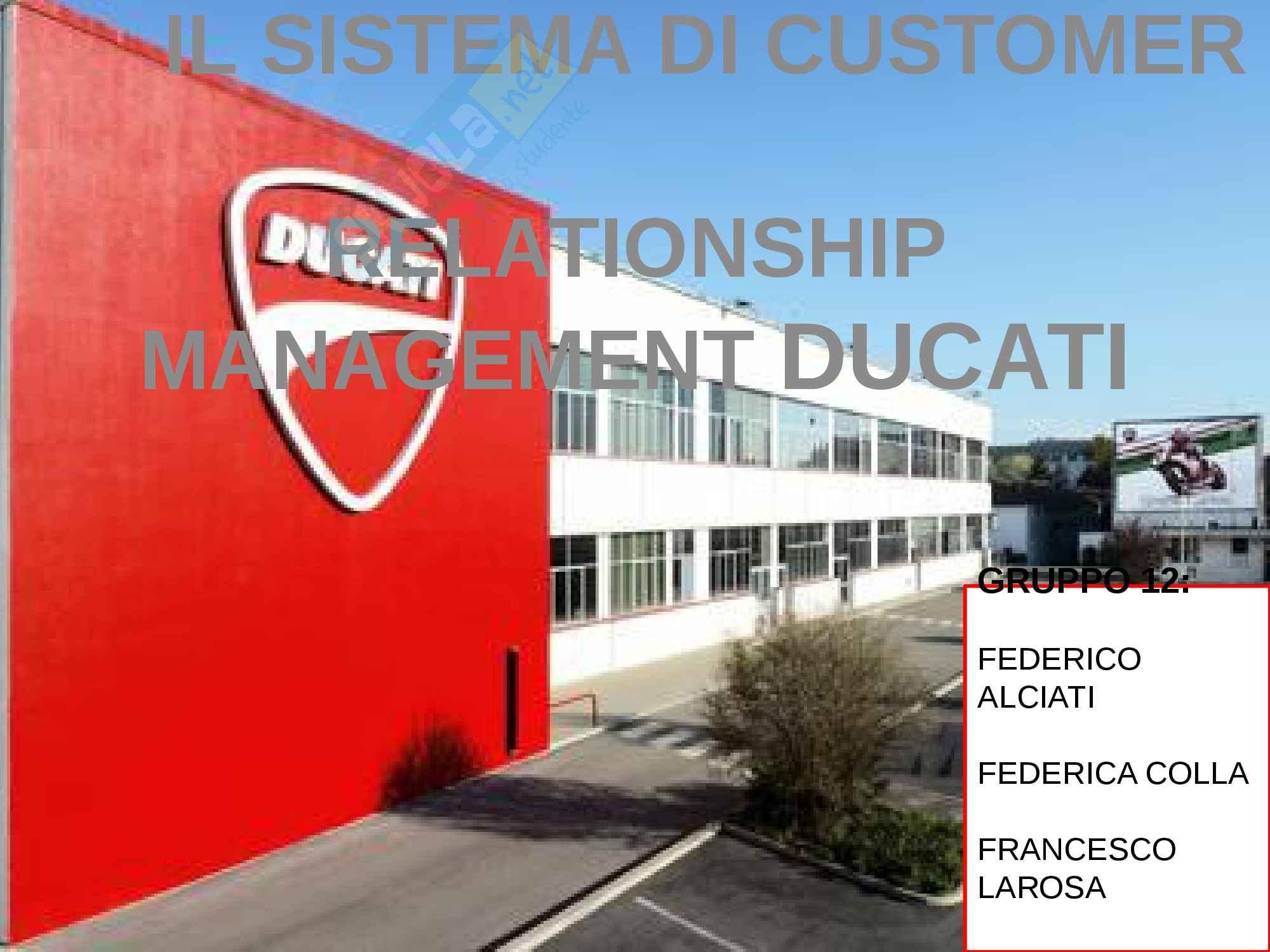 esercitazione F. Culasso Organizzazione aziendale e gestione dei processi