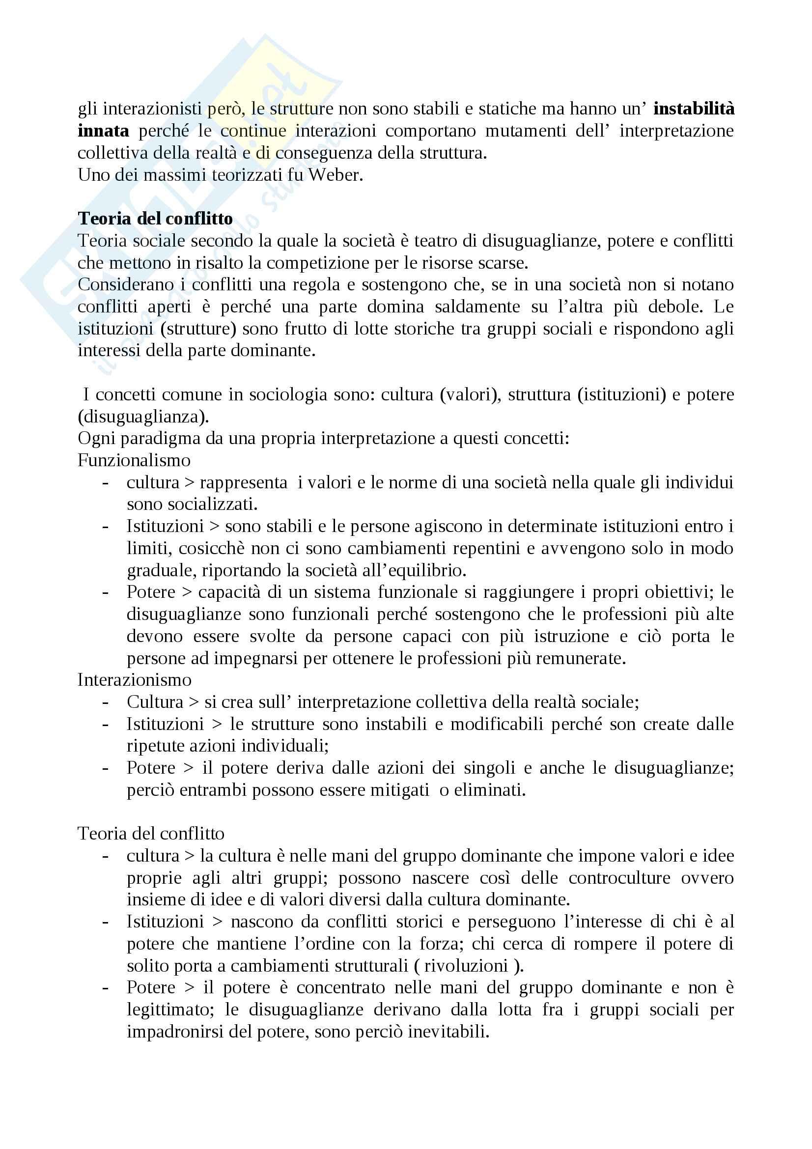 """Riassunto esame Sociologia generale, prof. Borghini, libro consigliato """"Sociologia generale"""", Croteau Pag. 6"""