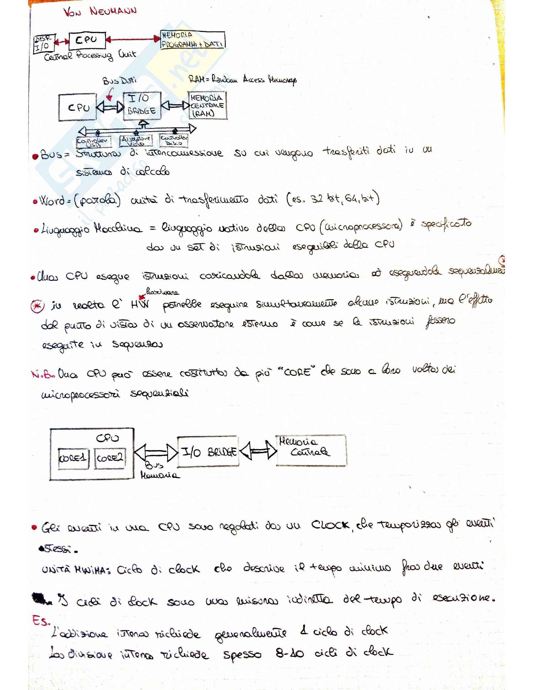 Sistemi di calcolo 1 (Teoria + Esercizi)