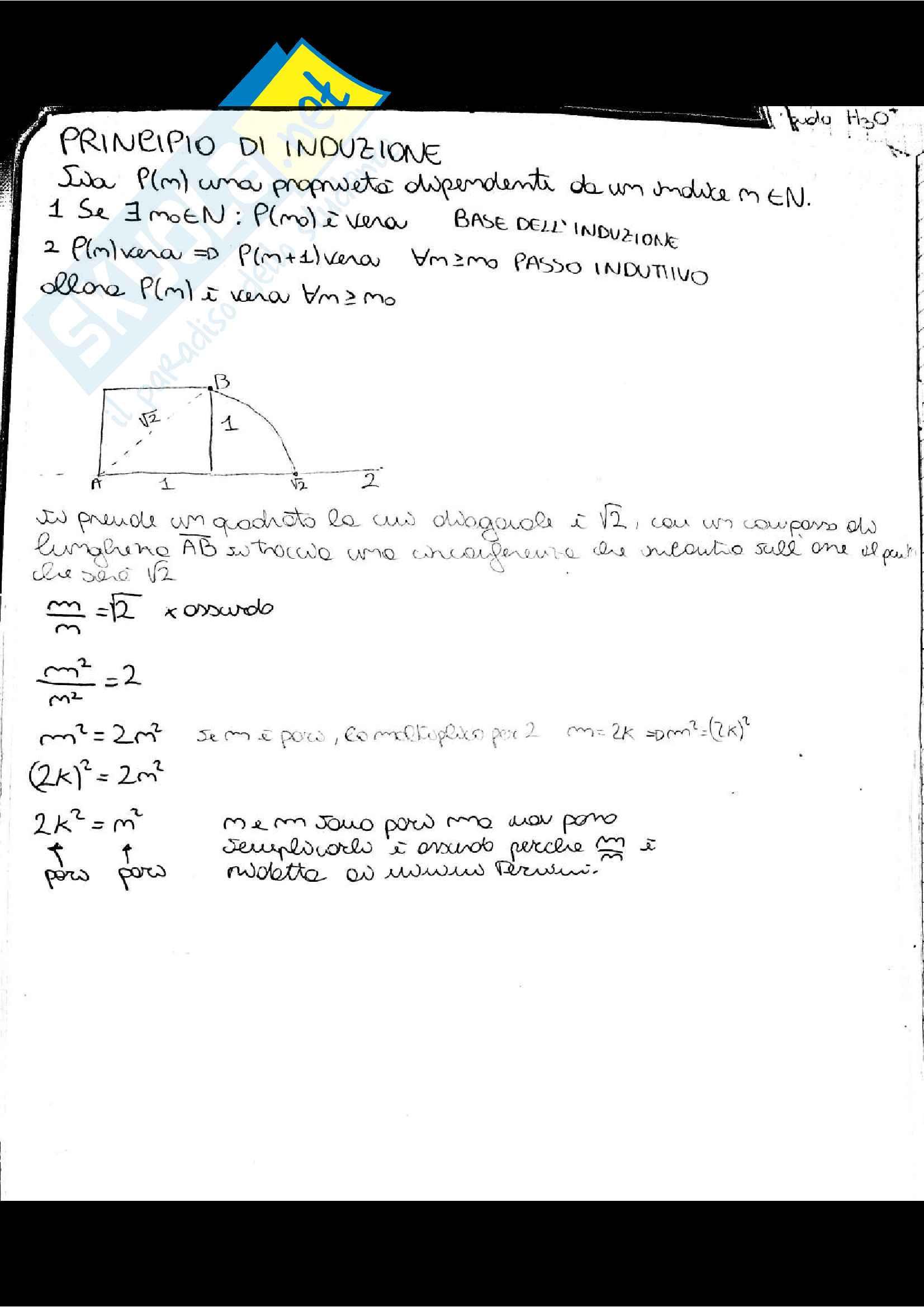 Appunti di Analisi 1, prof. Adele Ferone