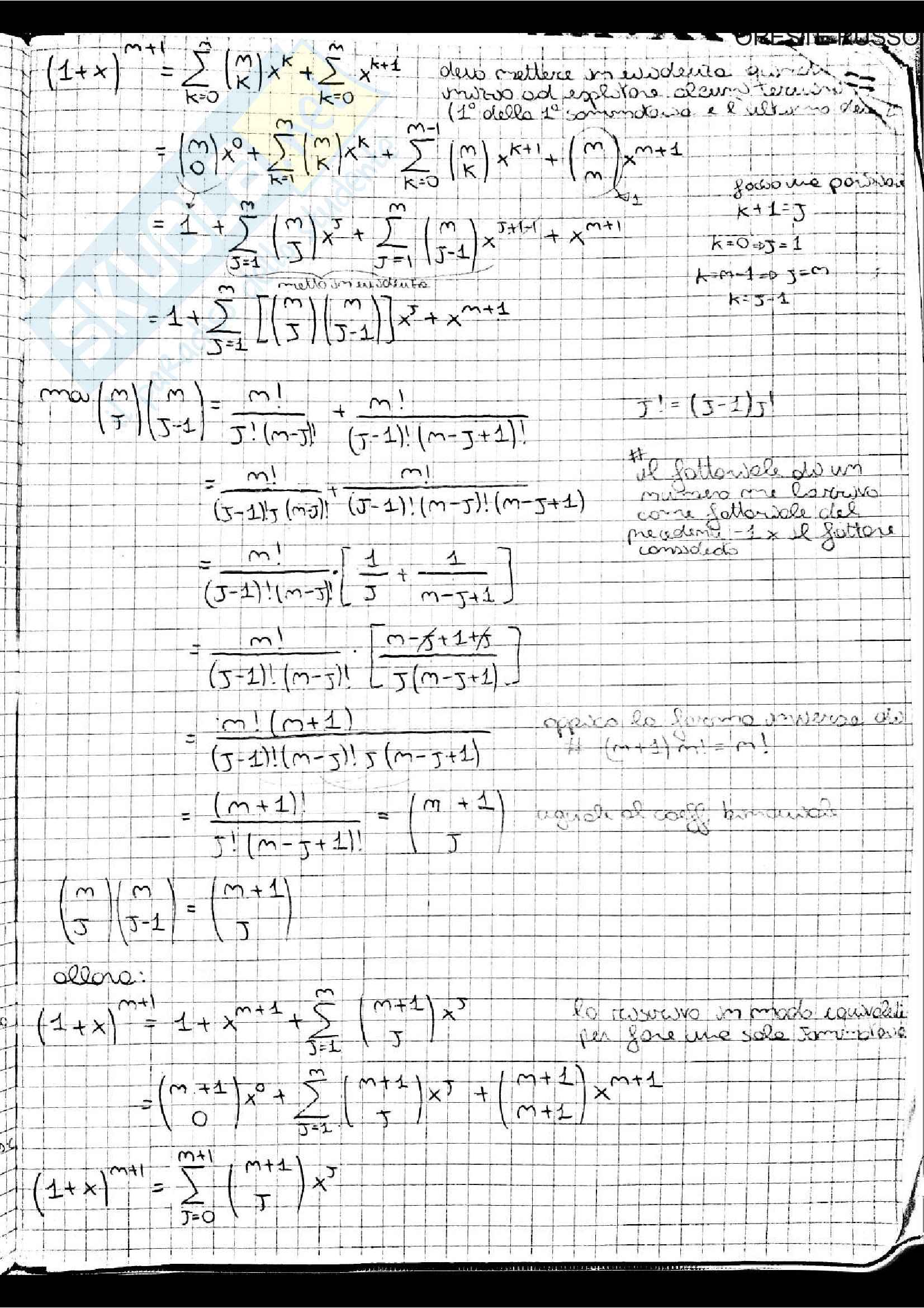 Appunti di Analisi 1, prof. Adele Ferone Pag. 6