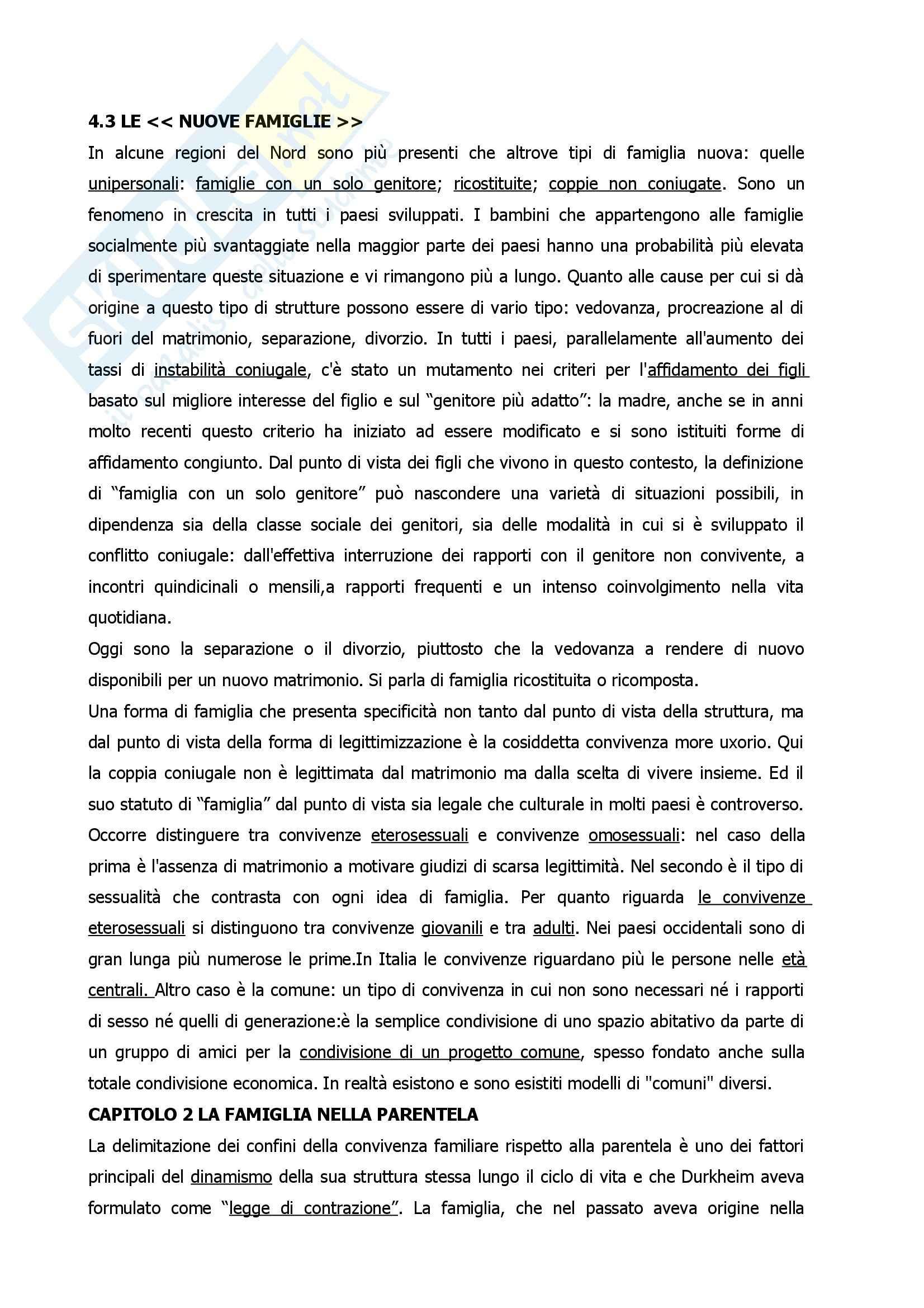 Riassunto esame Sociologia della Famiglia, prof. Albertini, libro consigliato Sociologia della Famiglia, Saraceno Pag. 6