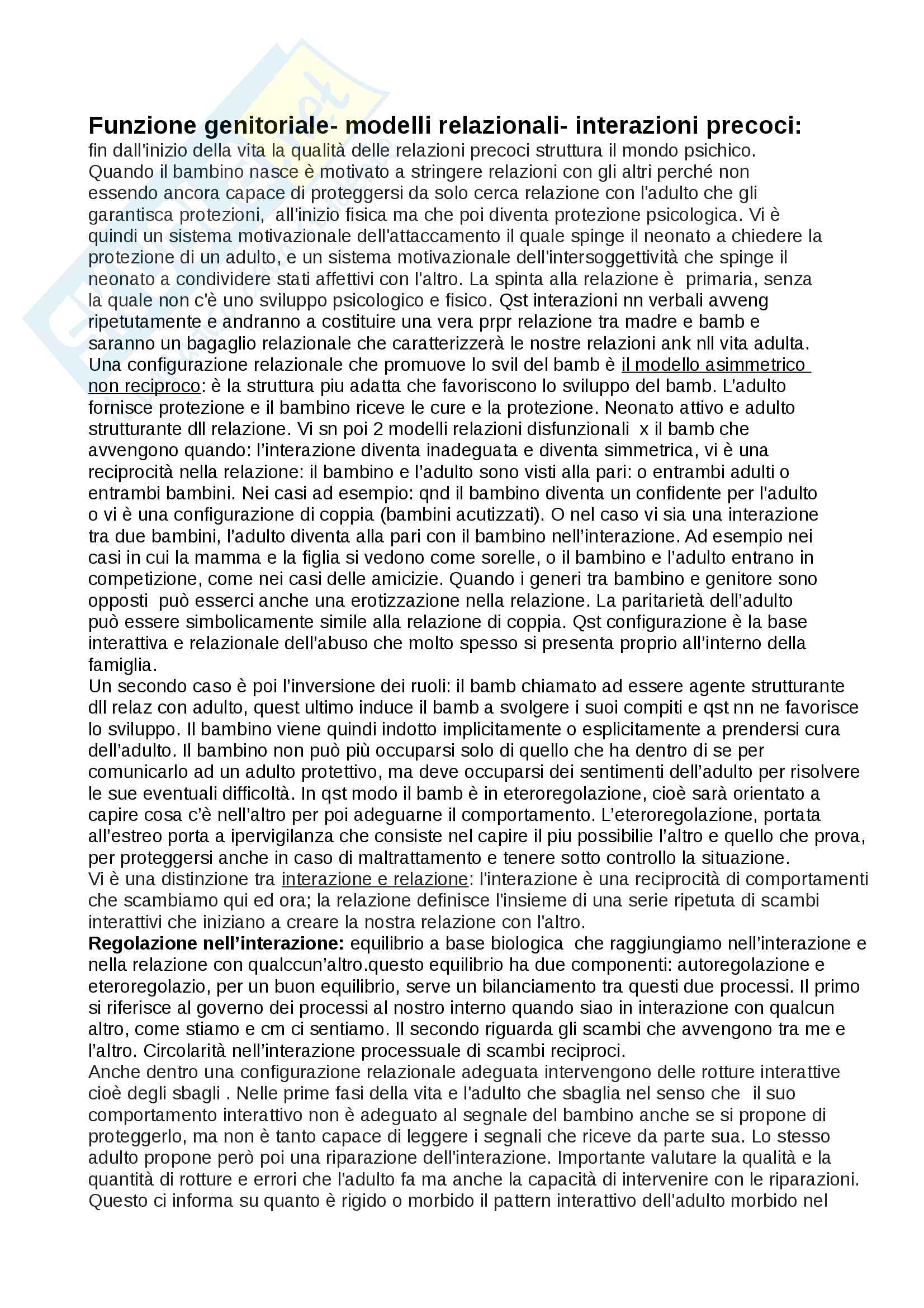 Psicopatologia prof. Simonelli magistrale