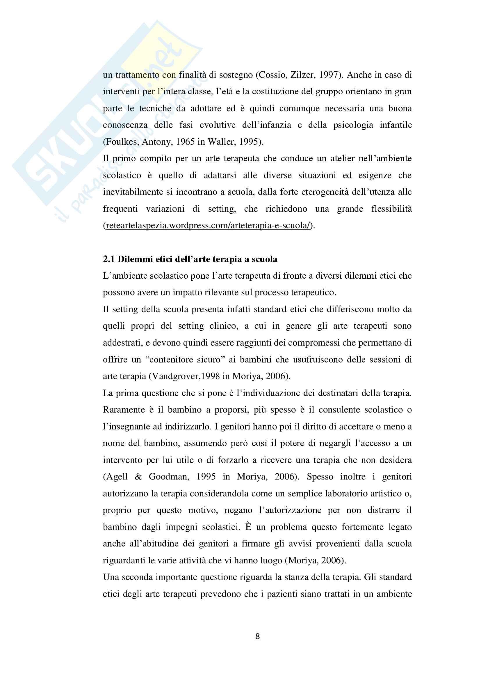 Tesi sull'arteterapia e le sue applicazioni in ambito scolastico Pag. 11