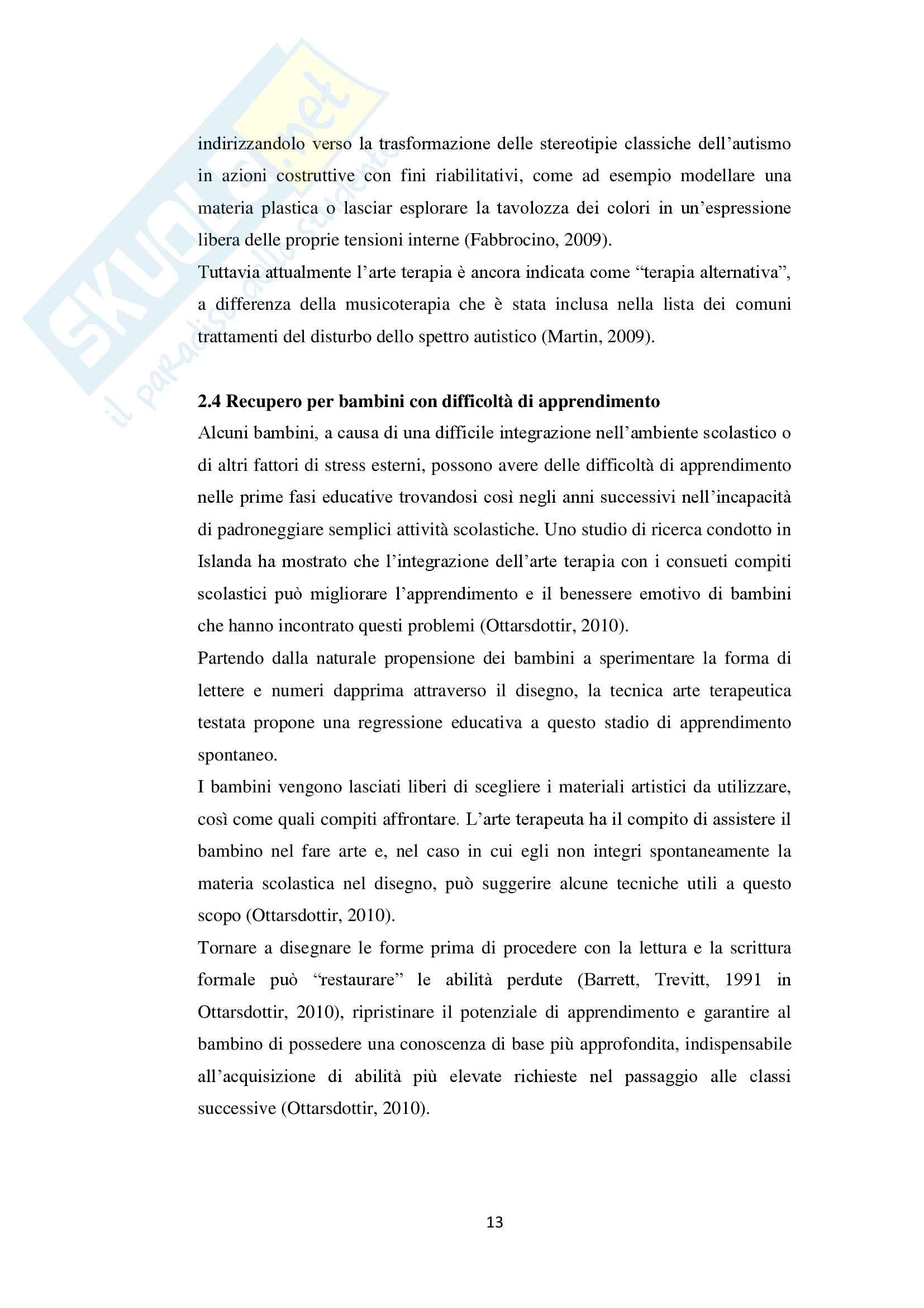 Tesi sull'arteterapia e le sue applicazioni in ambito scolastico Pag. 16