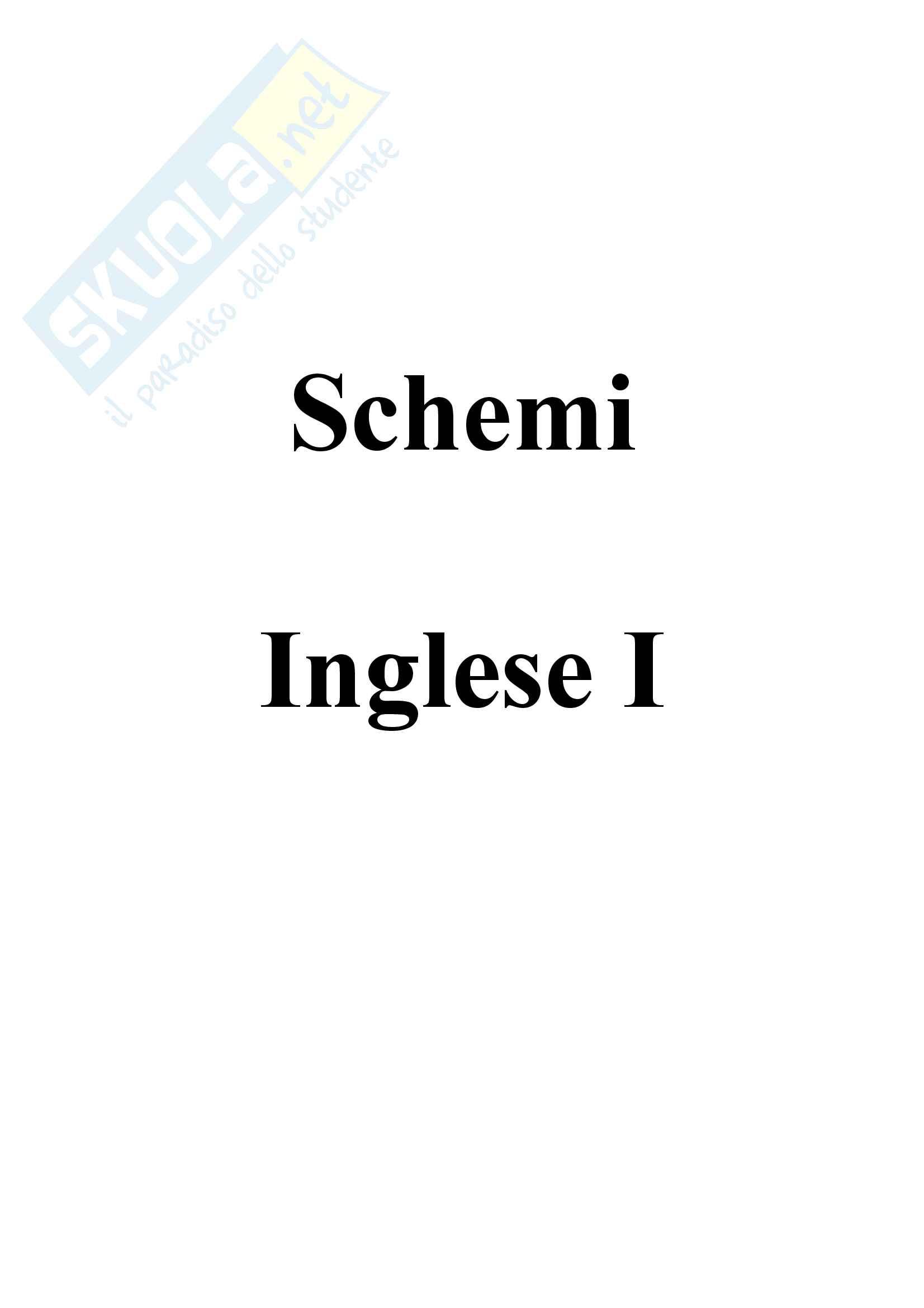 Schemi di grammatica inglese I