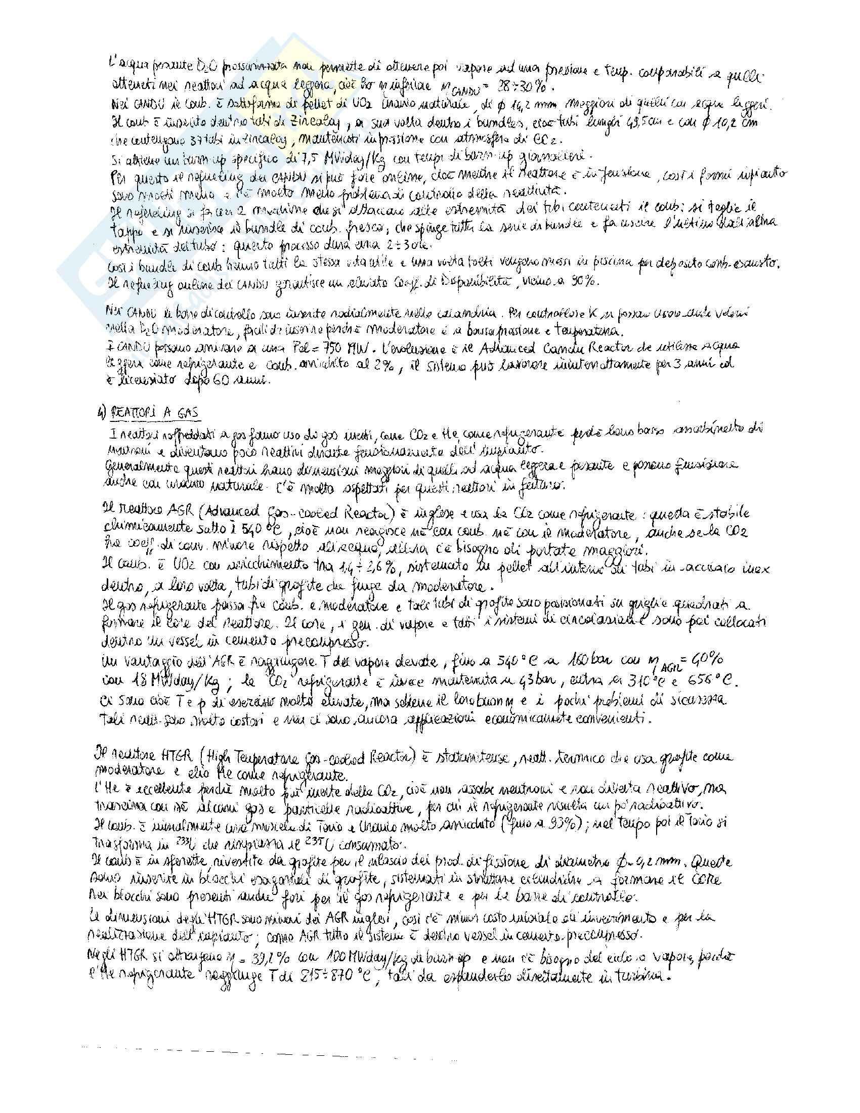 Riassunto esame Impianti non Convenzionali per la Produzione di Energia, prof. Vestrucci, libri consigliati M. Cumo, Impianti Nucleari, UTET, 1976 M. M. El-Wakil, Nuclear Power Engineering, McGraw-Hill, 1962 C. Lombardi, Impianti nucleari, CLUP, 2003 Pag. 11