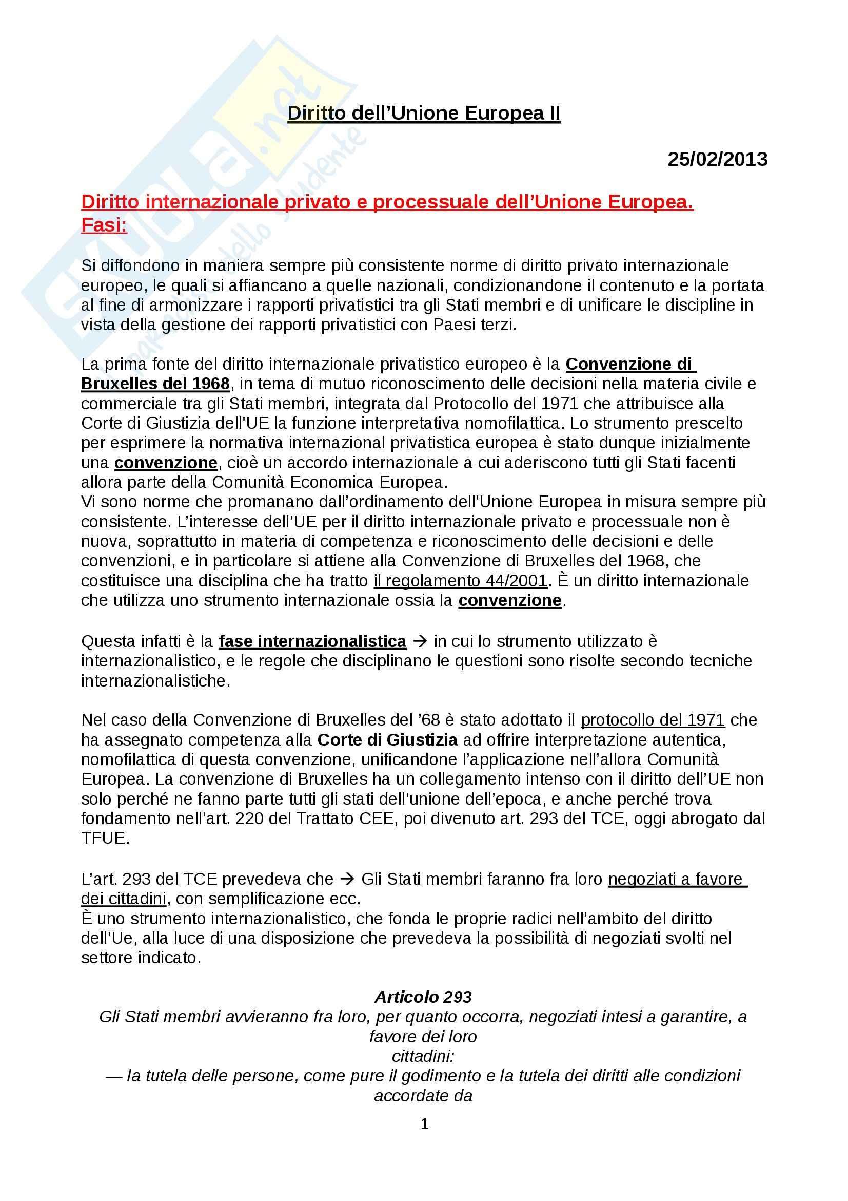 Diritto dell Unione Europea II - Appunti