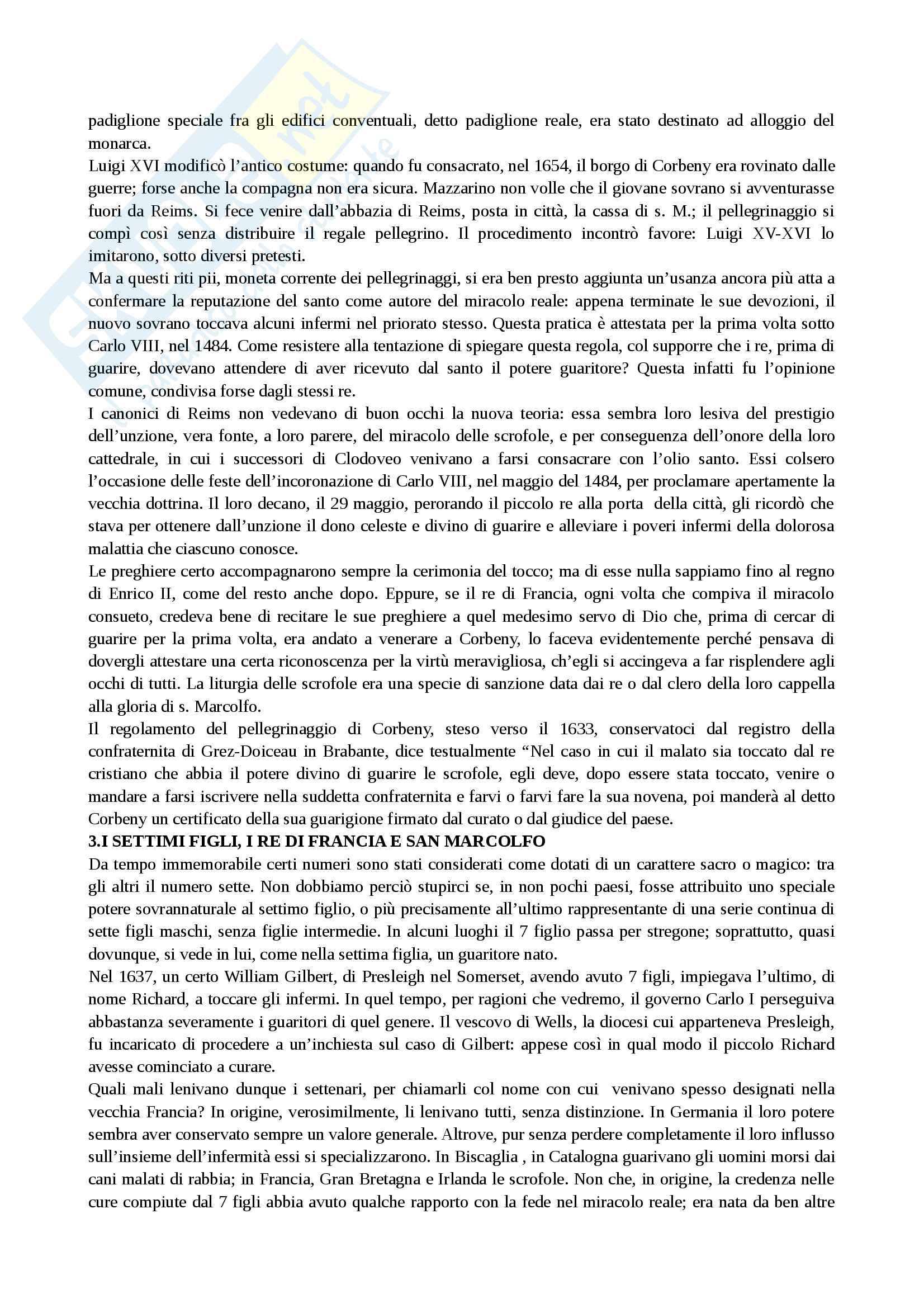 Riassunto esame Antichità e istituzioni medievali, prof. Covini, libro consigliato: I re taumaturghi di Marc Bloch Pag. 21
