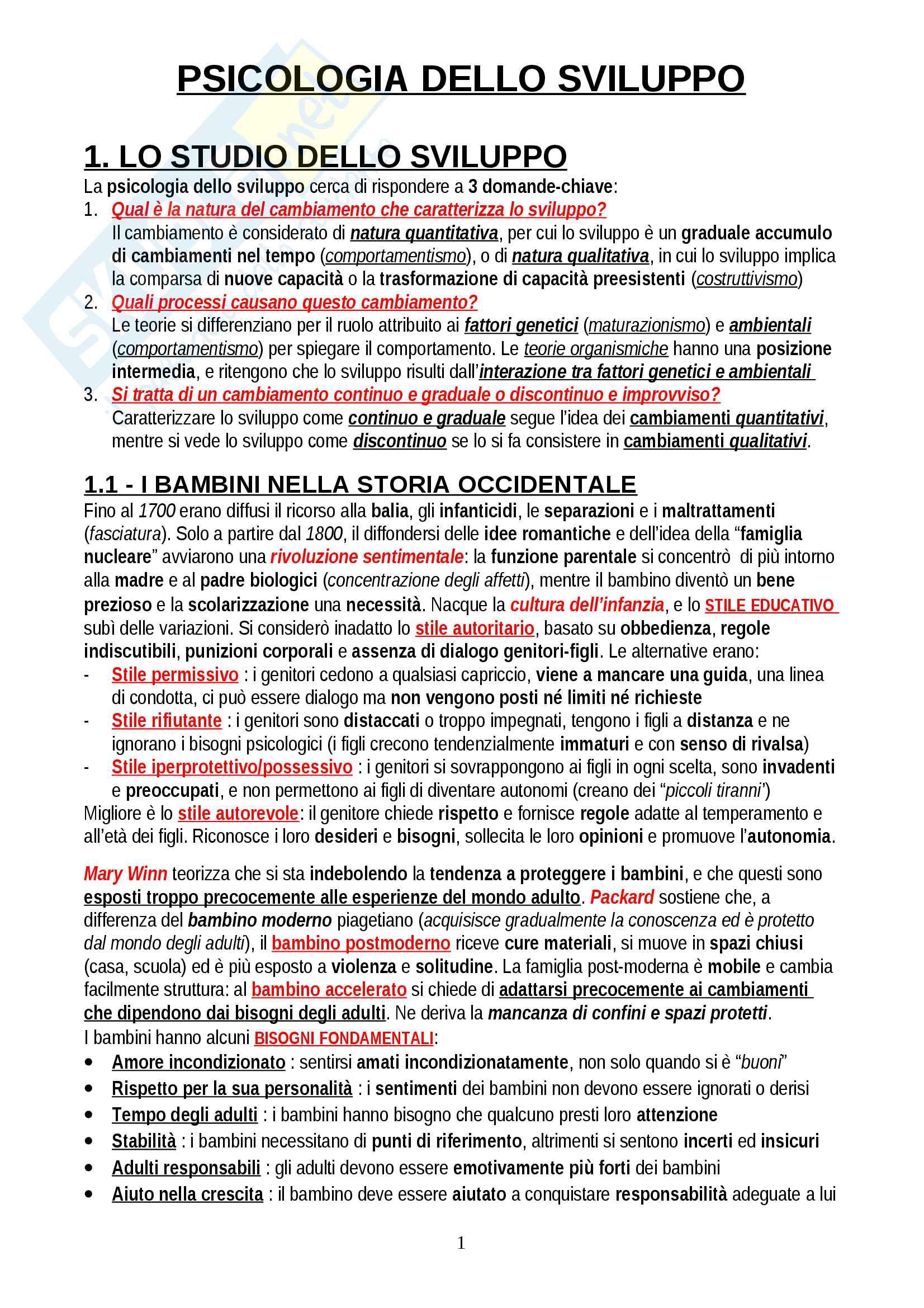 """Riassunto esame Psicologia dello Sviluppo, prof. Bellagamba, libro consigliato """"Psicologia dello sviluppo"""", Camaioni-Di Blasio"""