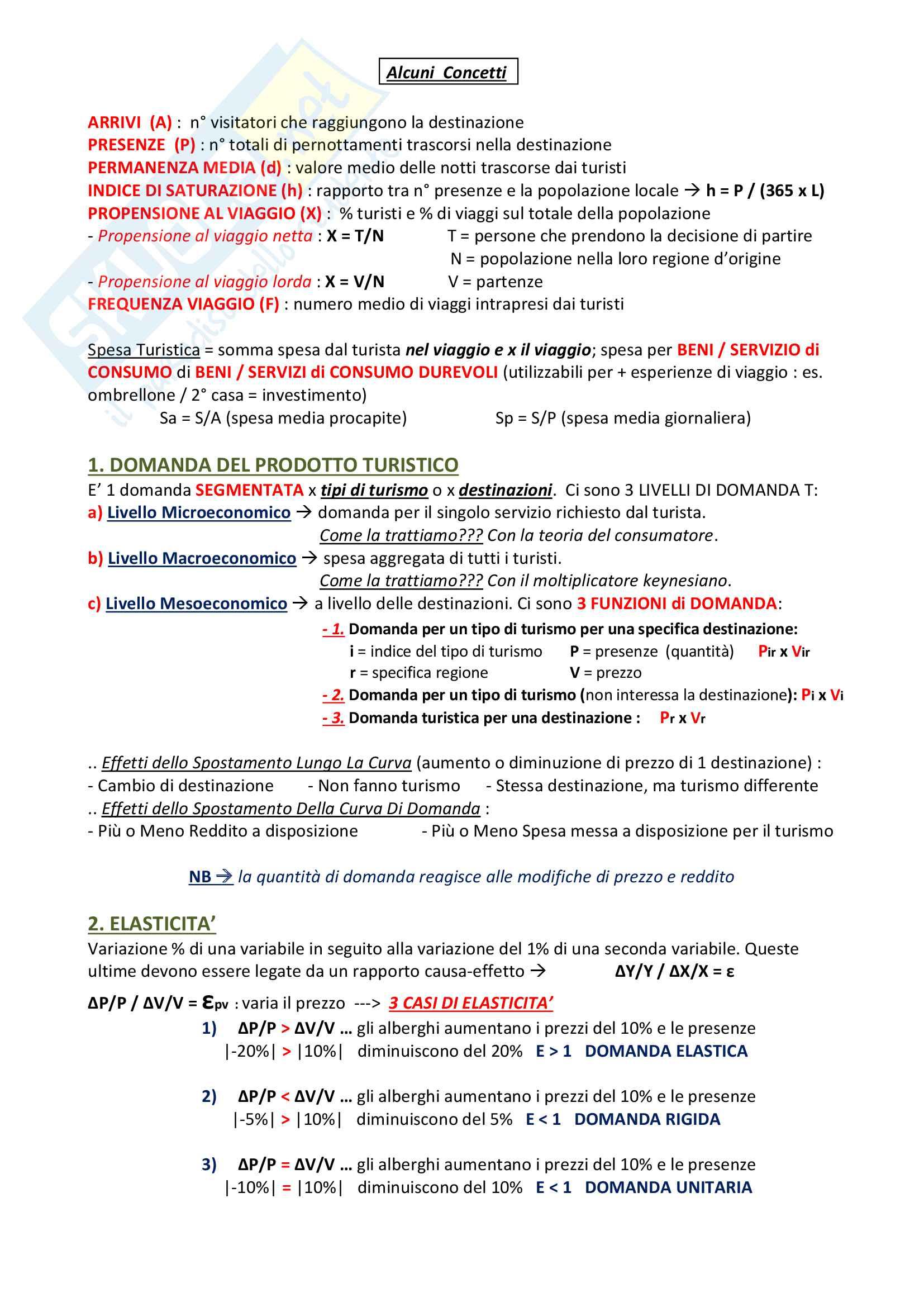 Appunti Economia Del Turismo Pag. 2