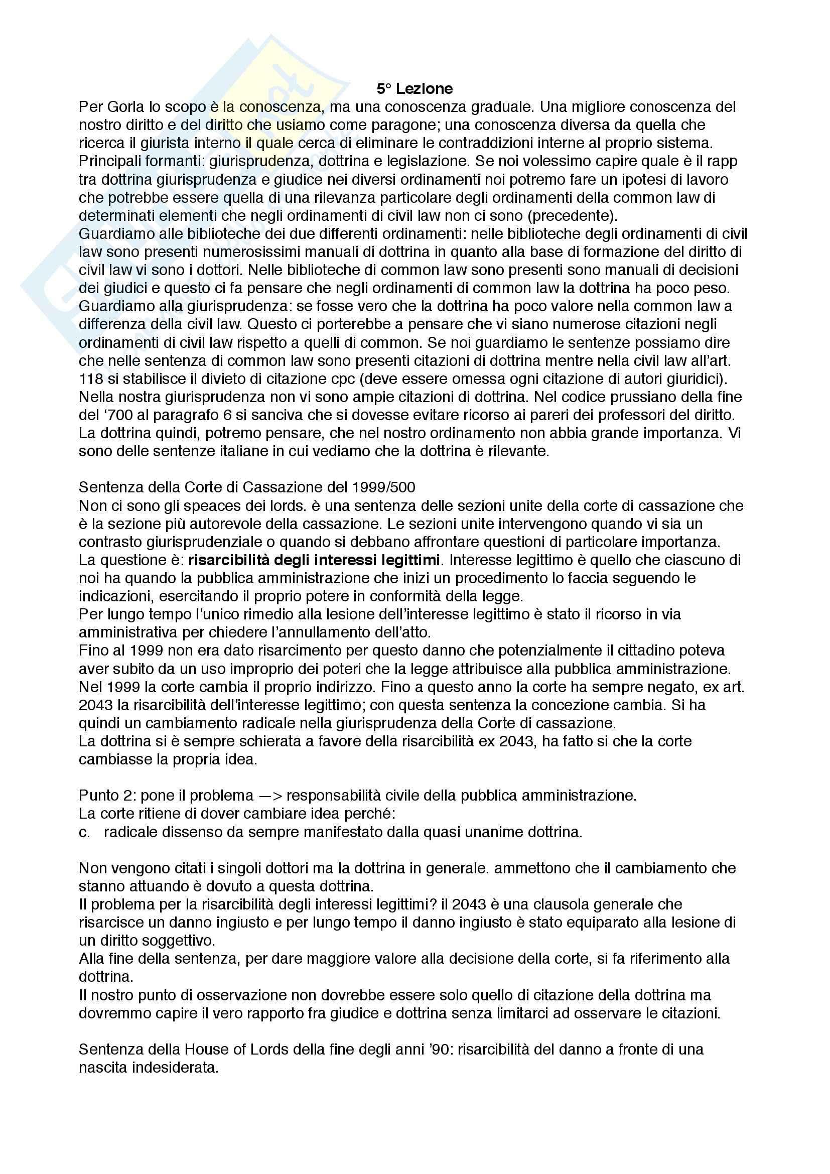 Appunti lezioni di Sistemi giuridici comparati Pag. 11