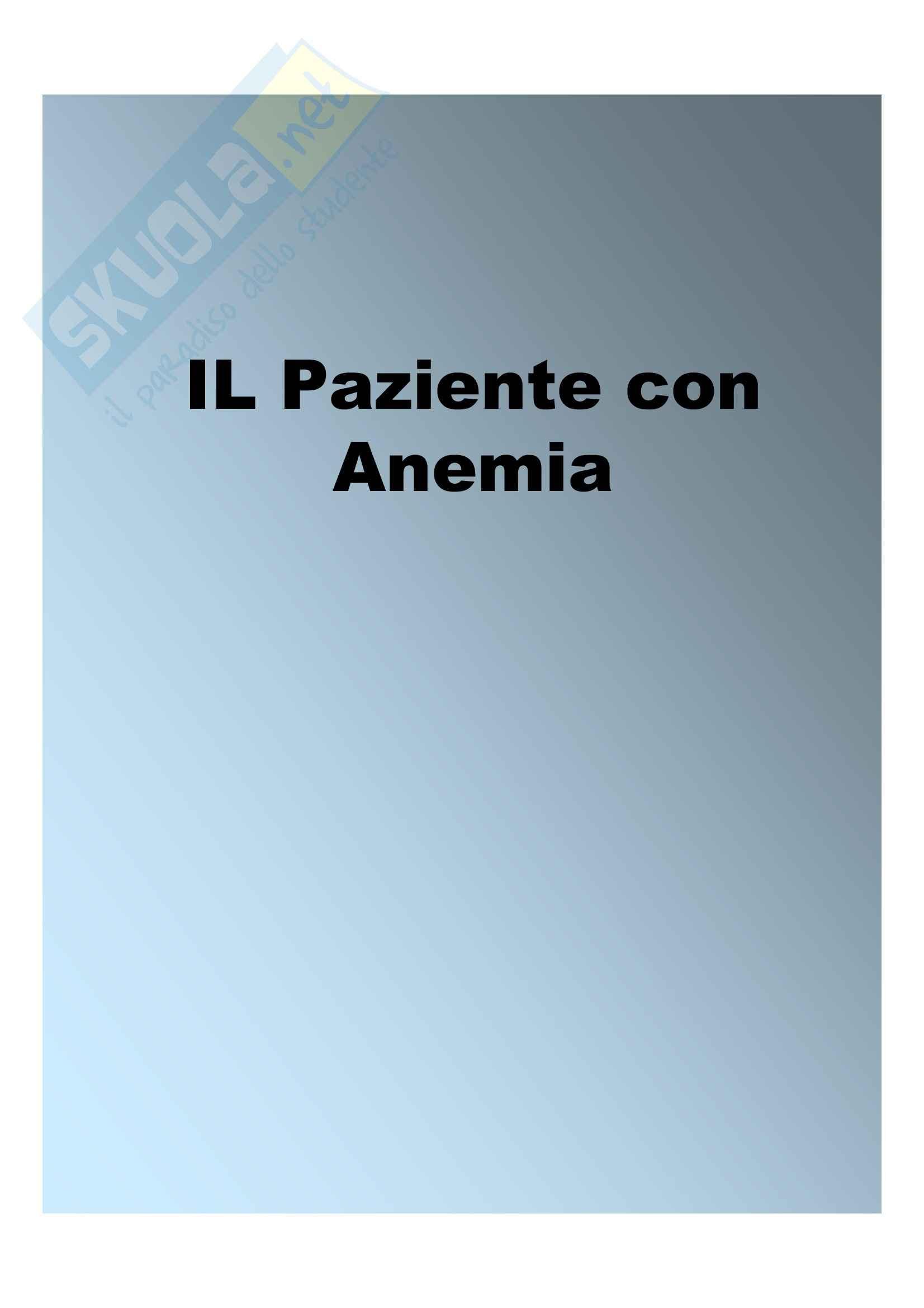 Medicina interna - pazienti con anemia