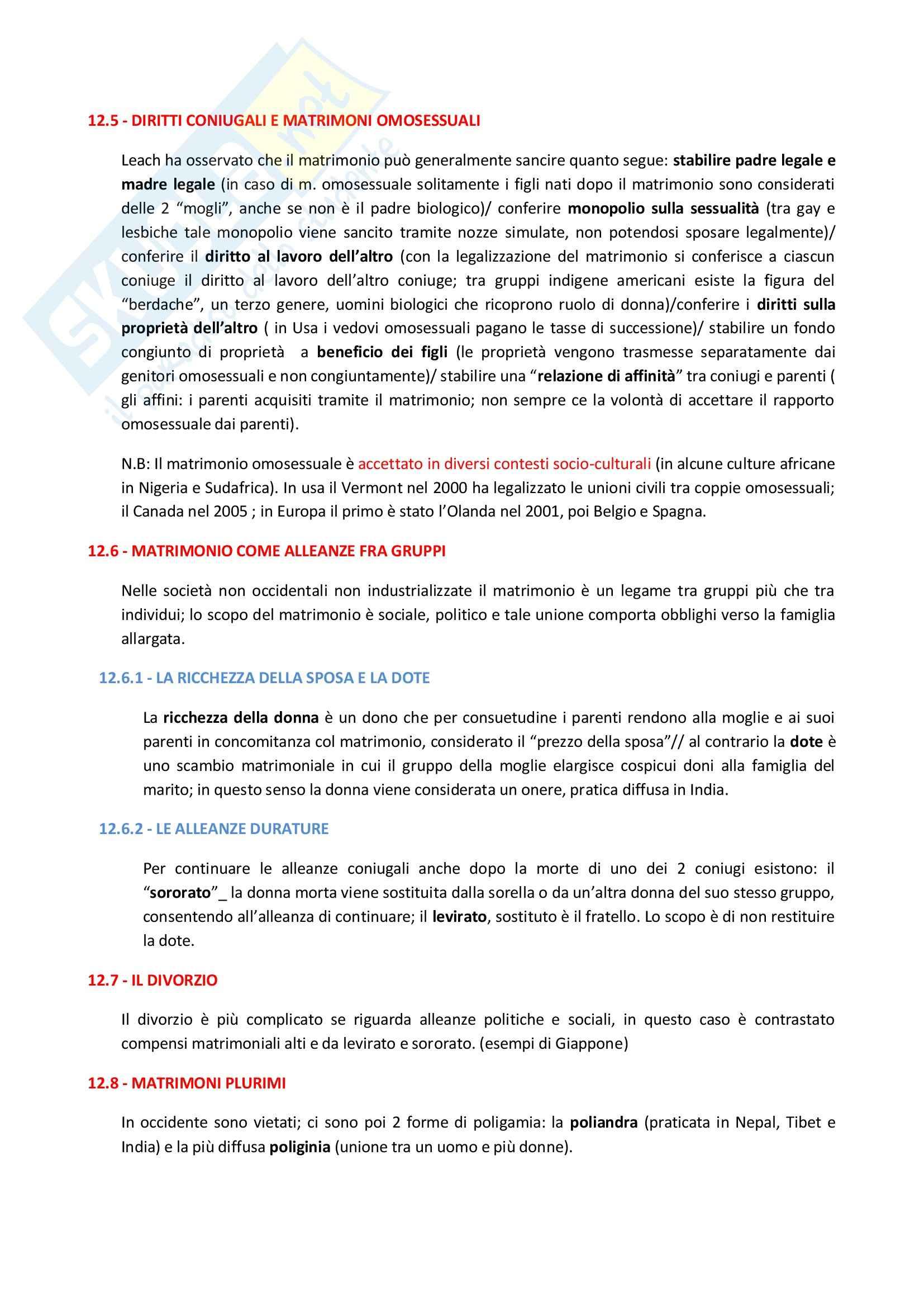 Riassunto esame Antropologia Culturale, prof. Bonato, libro consigliato Antropologia Culturale di Kott Pag. 31