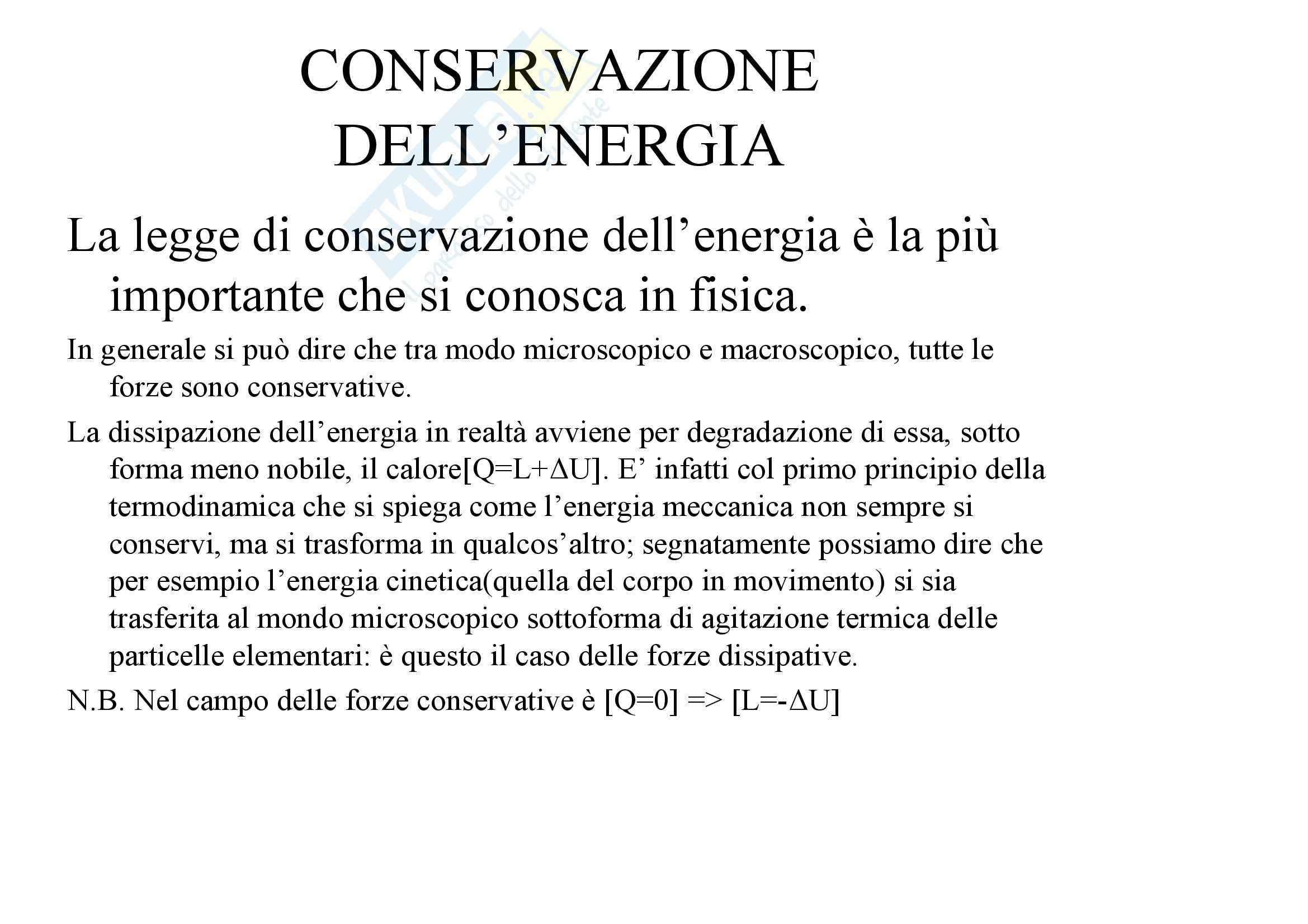 Fisica statistica ed informatica – Forze dissipative e conservative Pag. 2