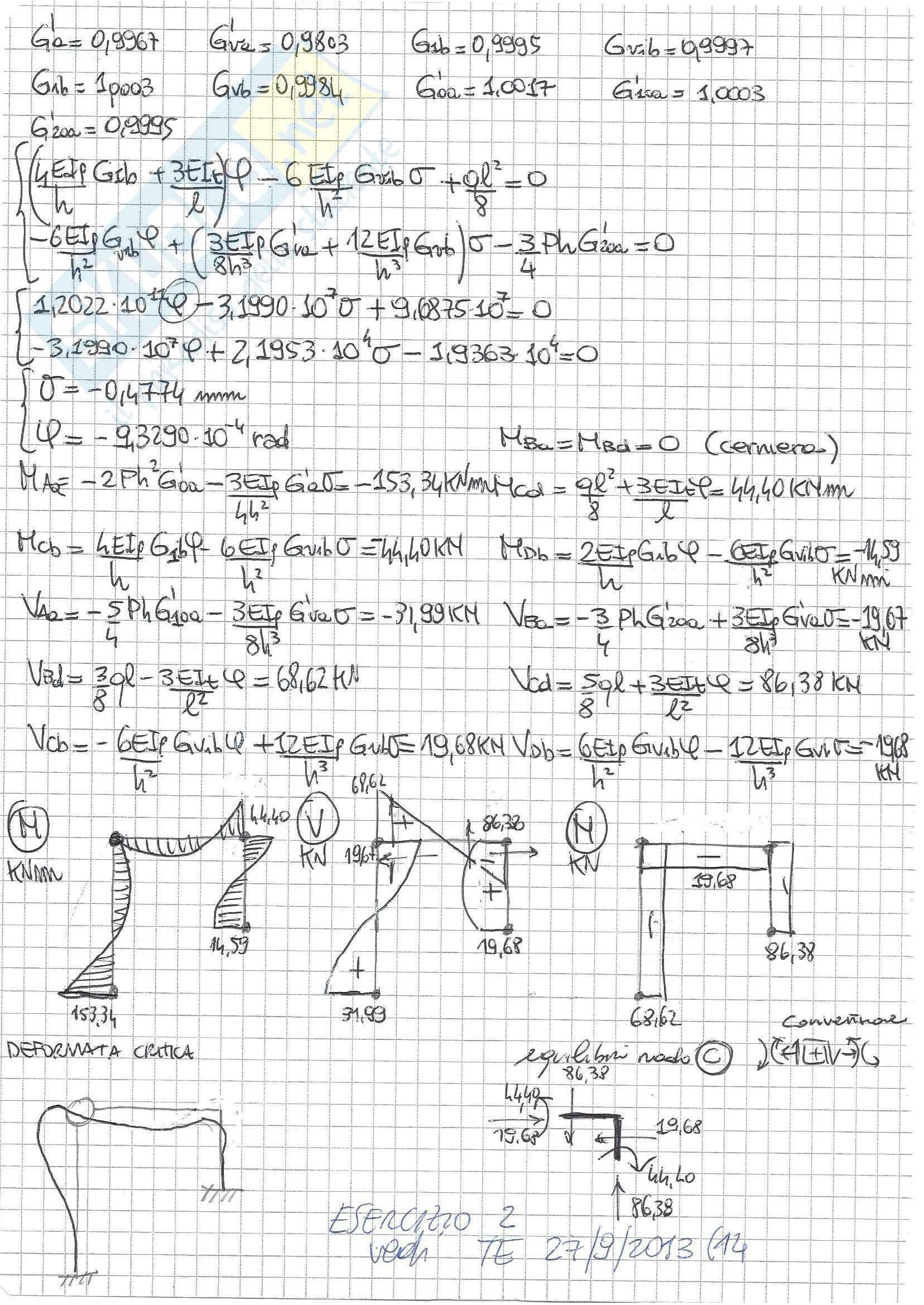 Tecnica delle Costruzioni II - Temi D'Esame A (Svolti) Pag. 36