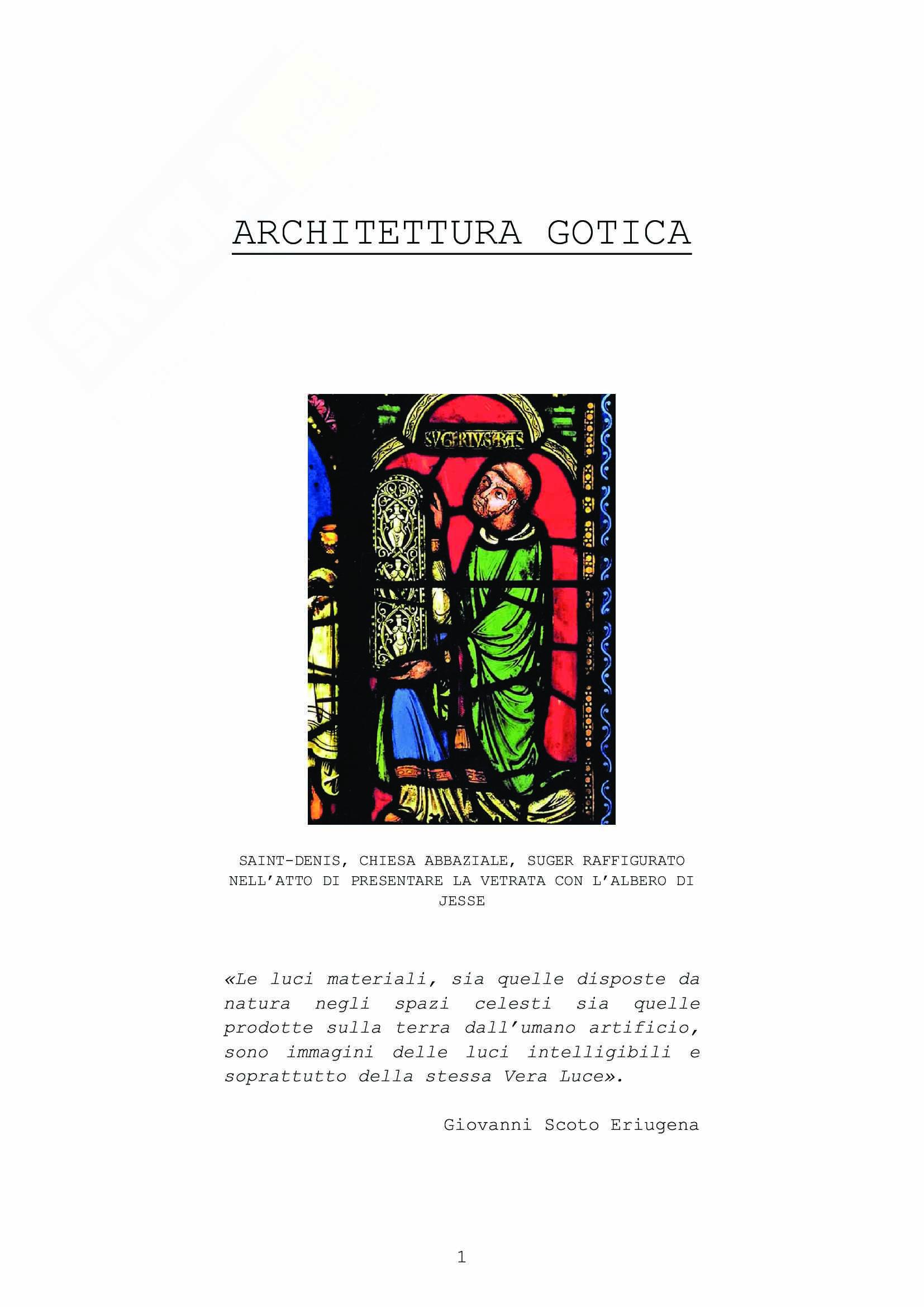 Architettura Gotica - Schedario delle Opere, Storia dell'Architettura Medievale