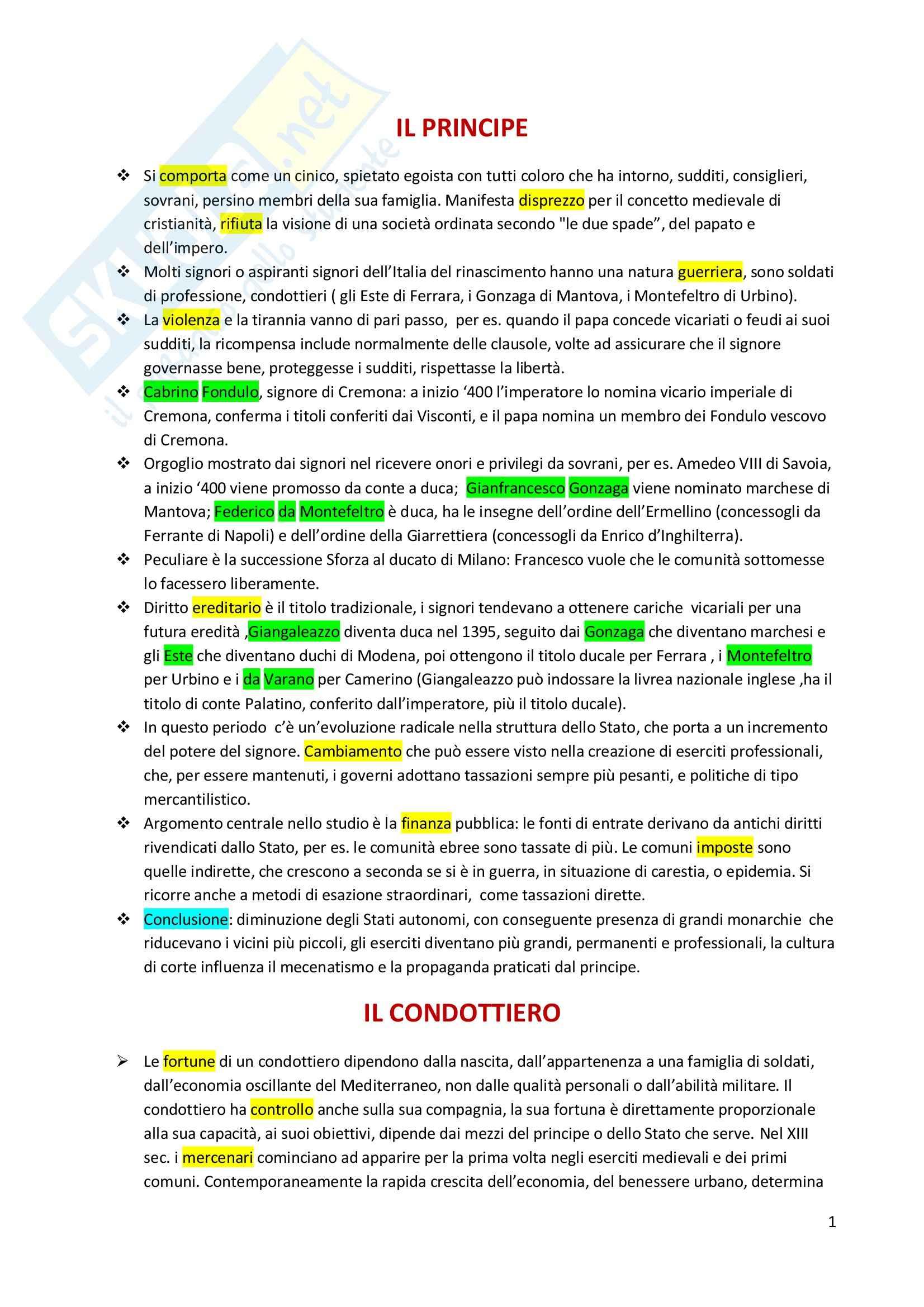 Riassunto esame Storia moderna, prof. Tonelli, libro consigliato L'uomo del Rinascimento, Garin