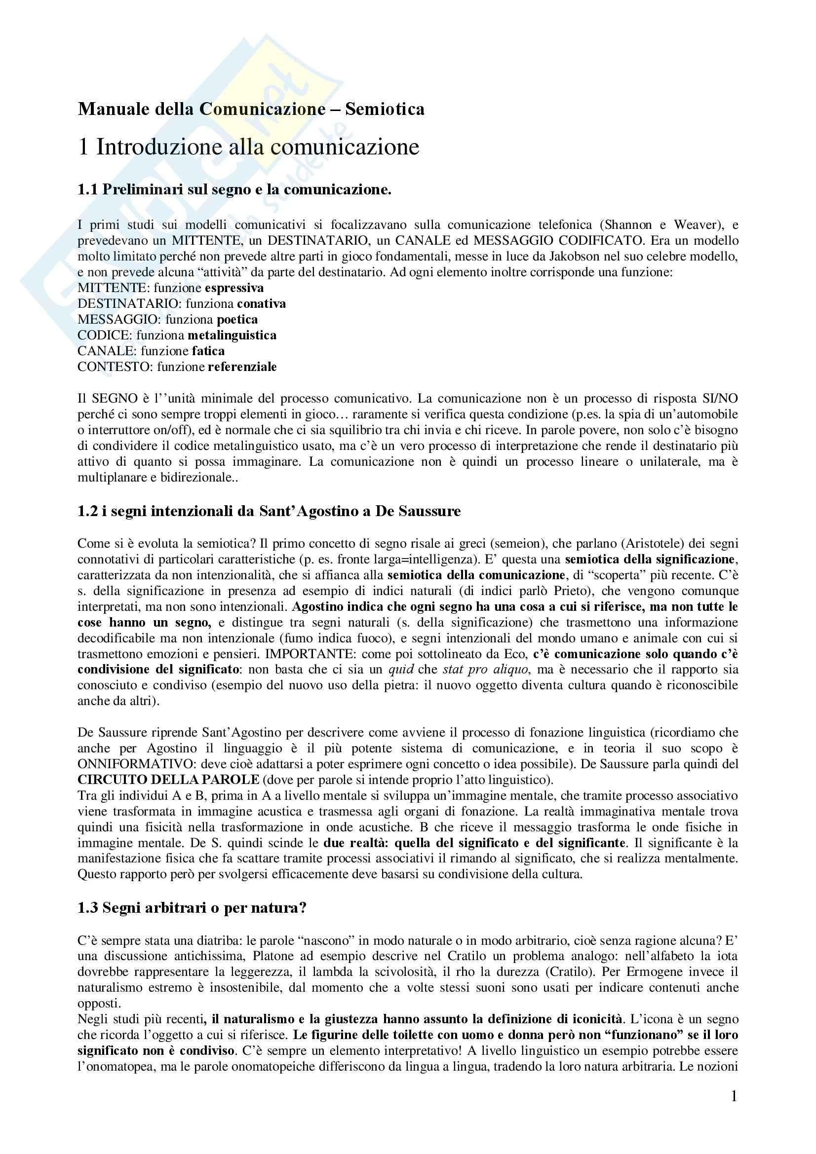 Semiotica - Appunti