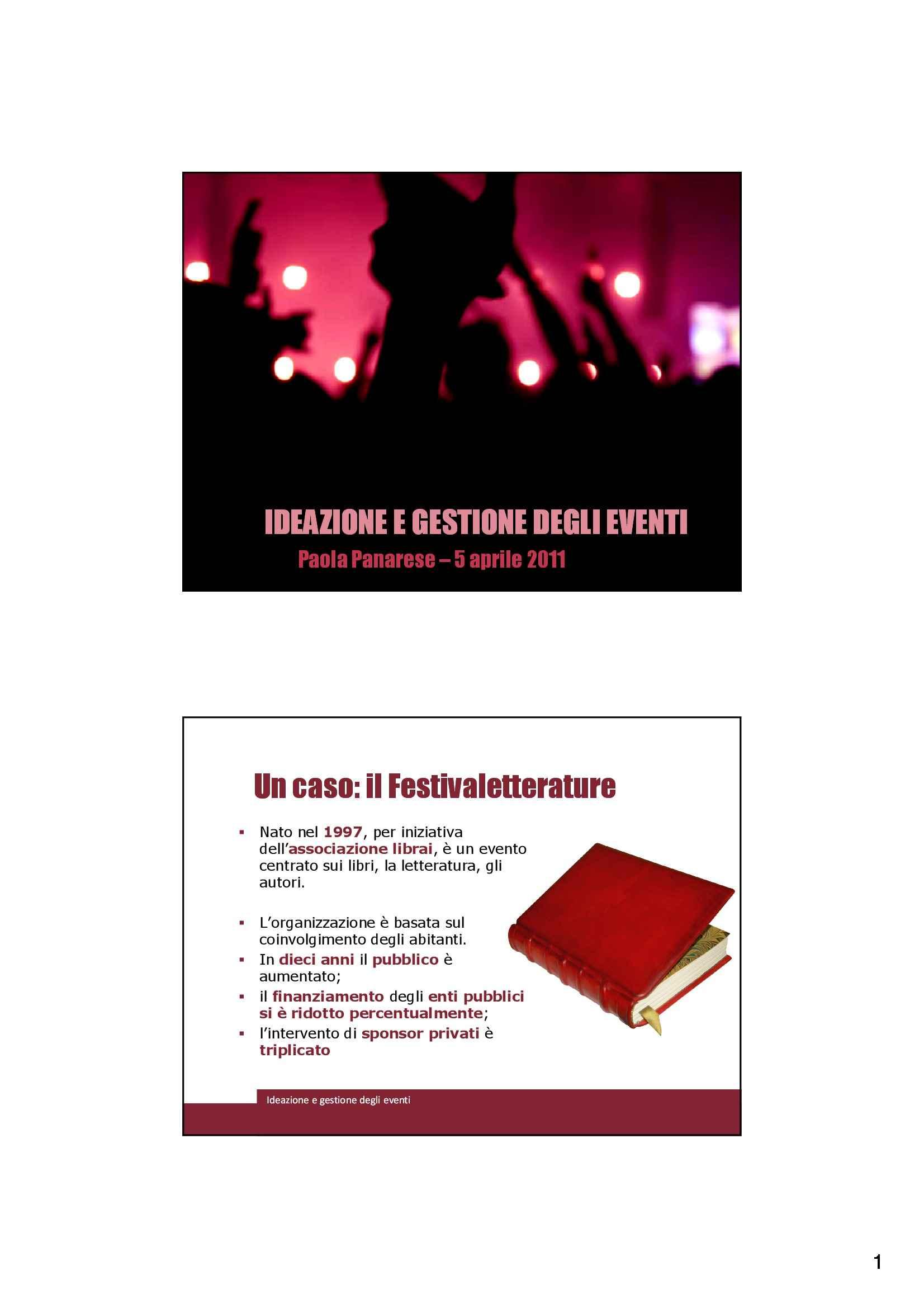 Comunicazione evento - Eventi e consumi culturali