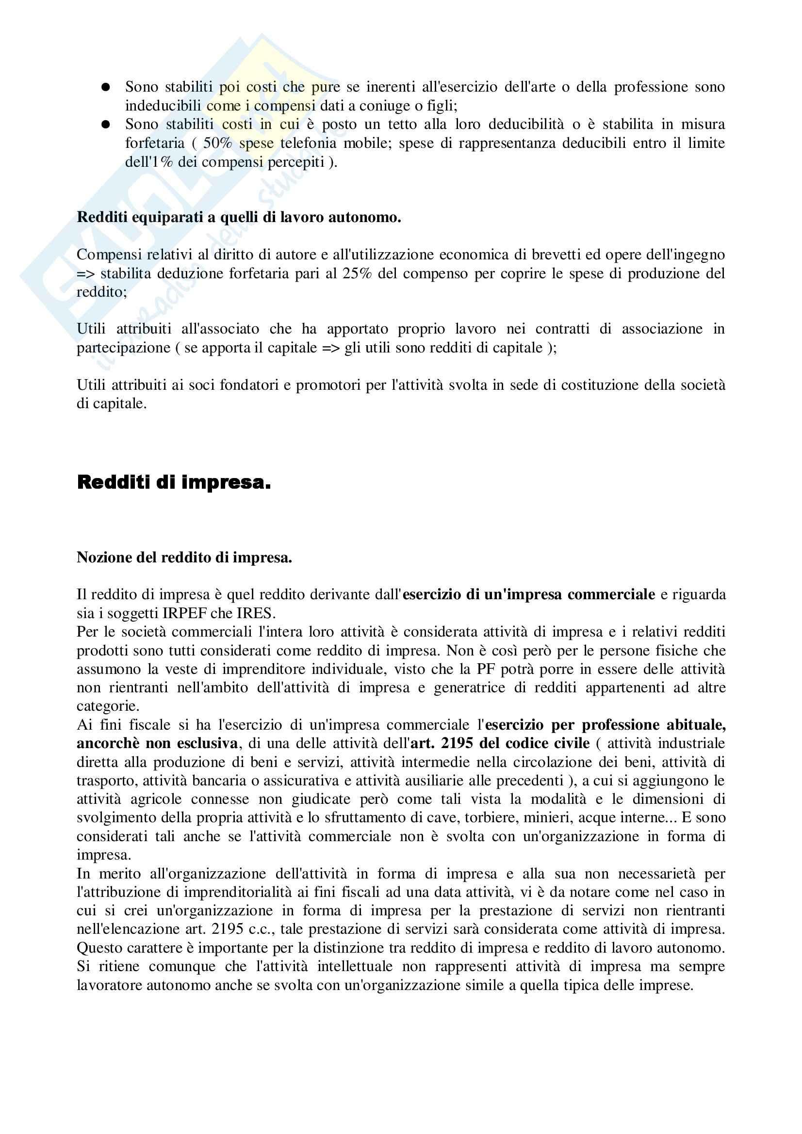 Diritto tributario - parte speciale - Riassunto esame, prof. Ragucci Pag. 11