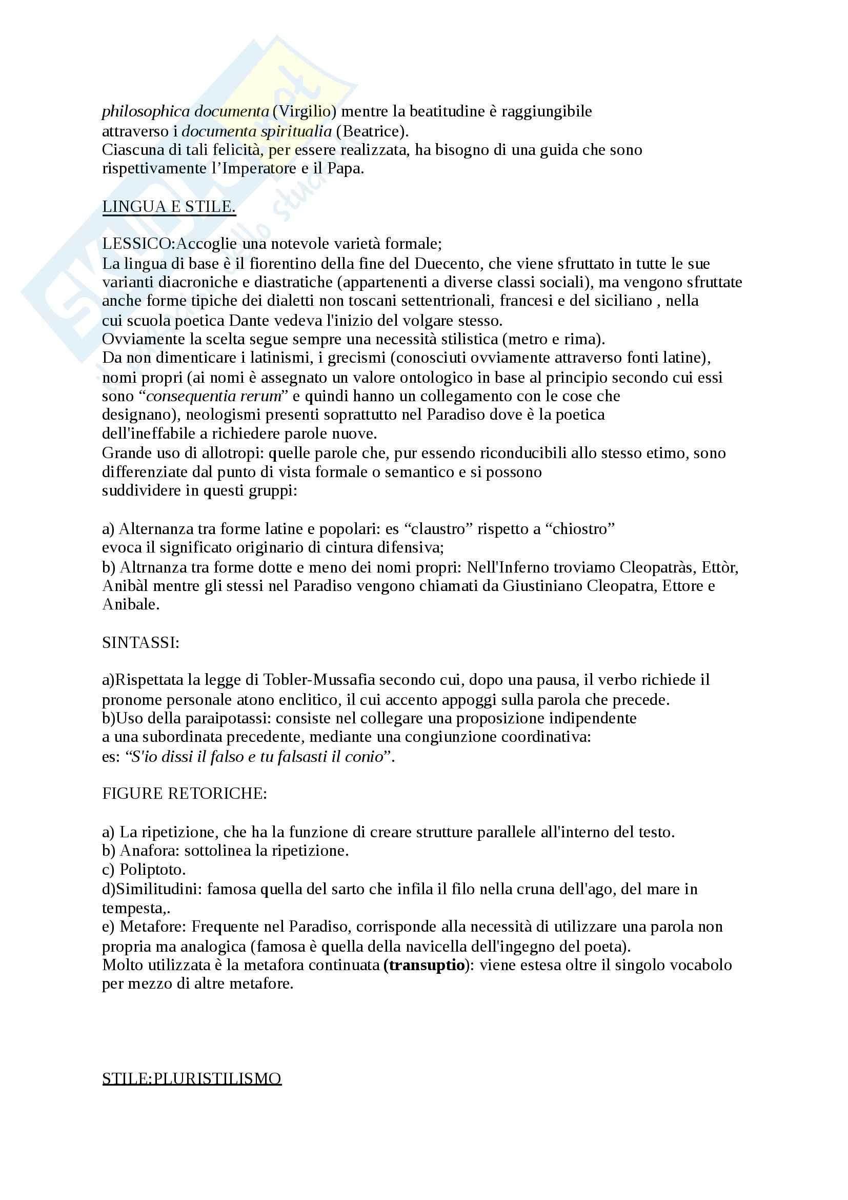 Riassunto esame Istituzioni di Filologia Italiana, testo consigliato Filologia e critica dantesca, Bellomo, prof. Fiorilla Pag. 11