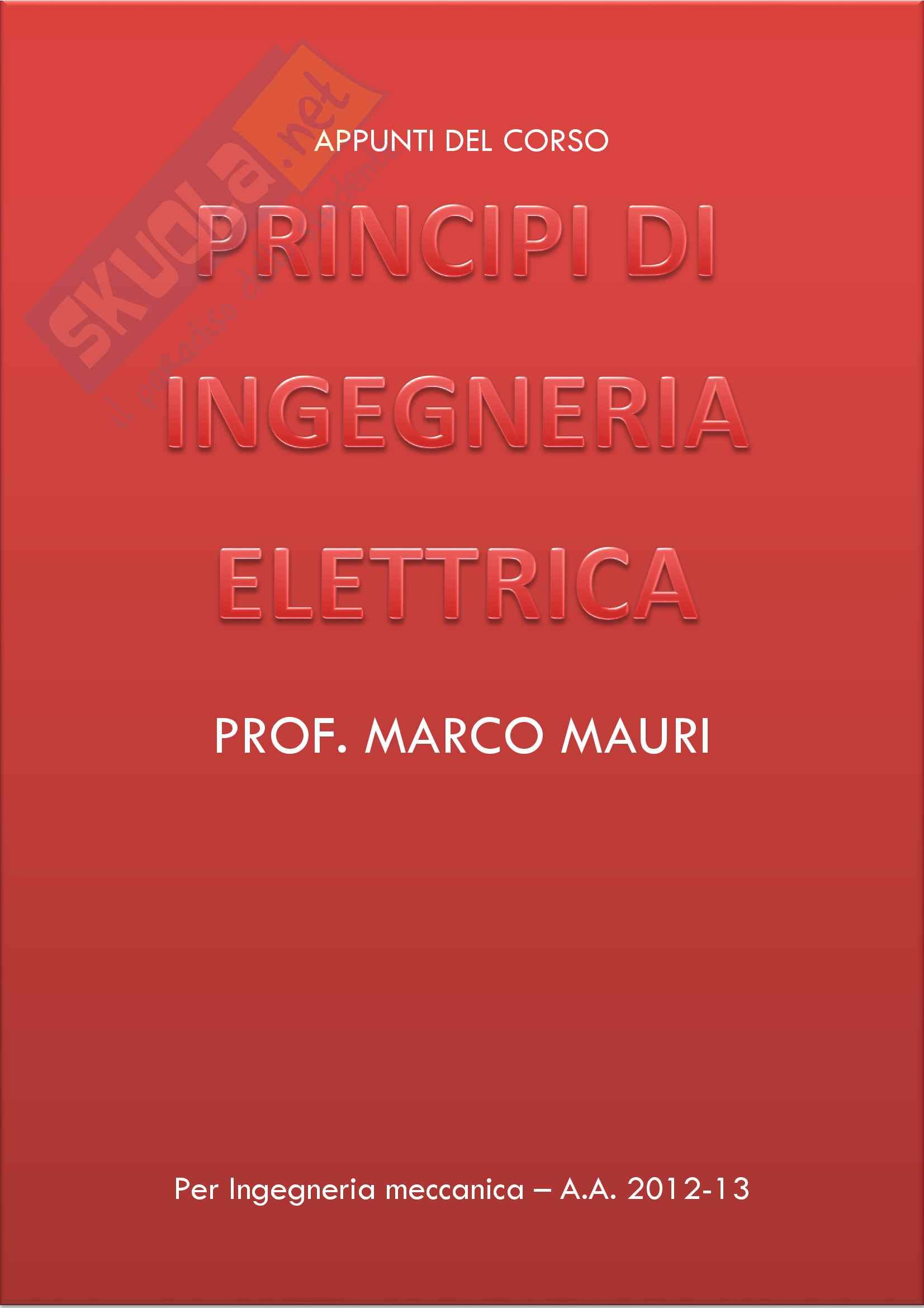 appunto M. Mauri Principi di ingegneria elettrica