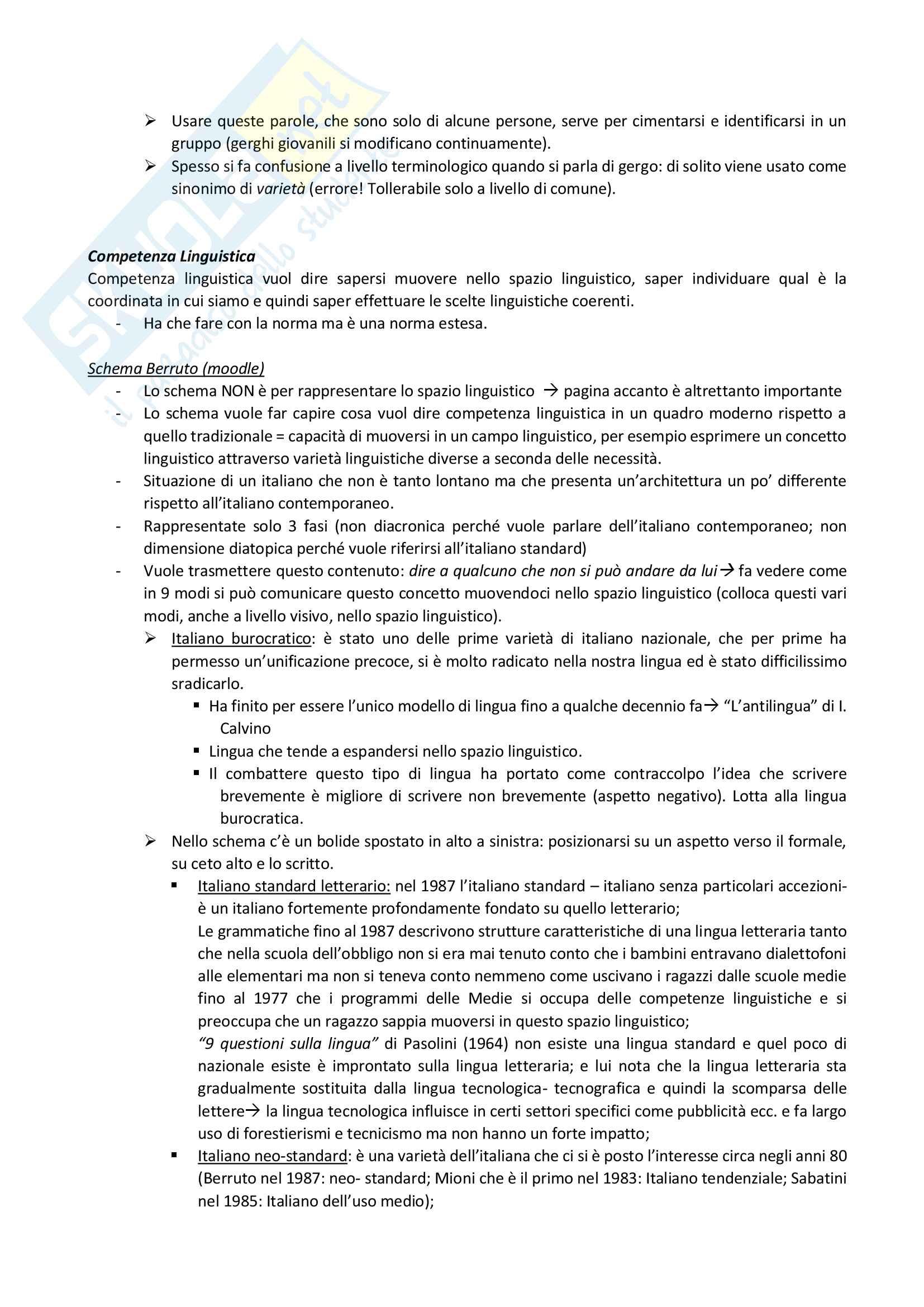 Appunti Grammatica Italianan corso del Prof. Biffi Pag. 6