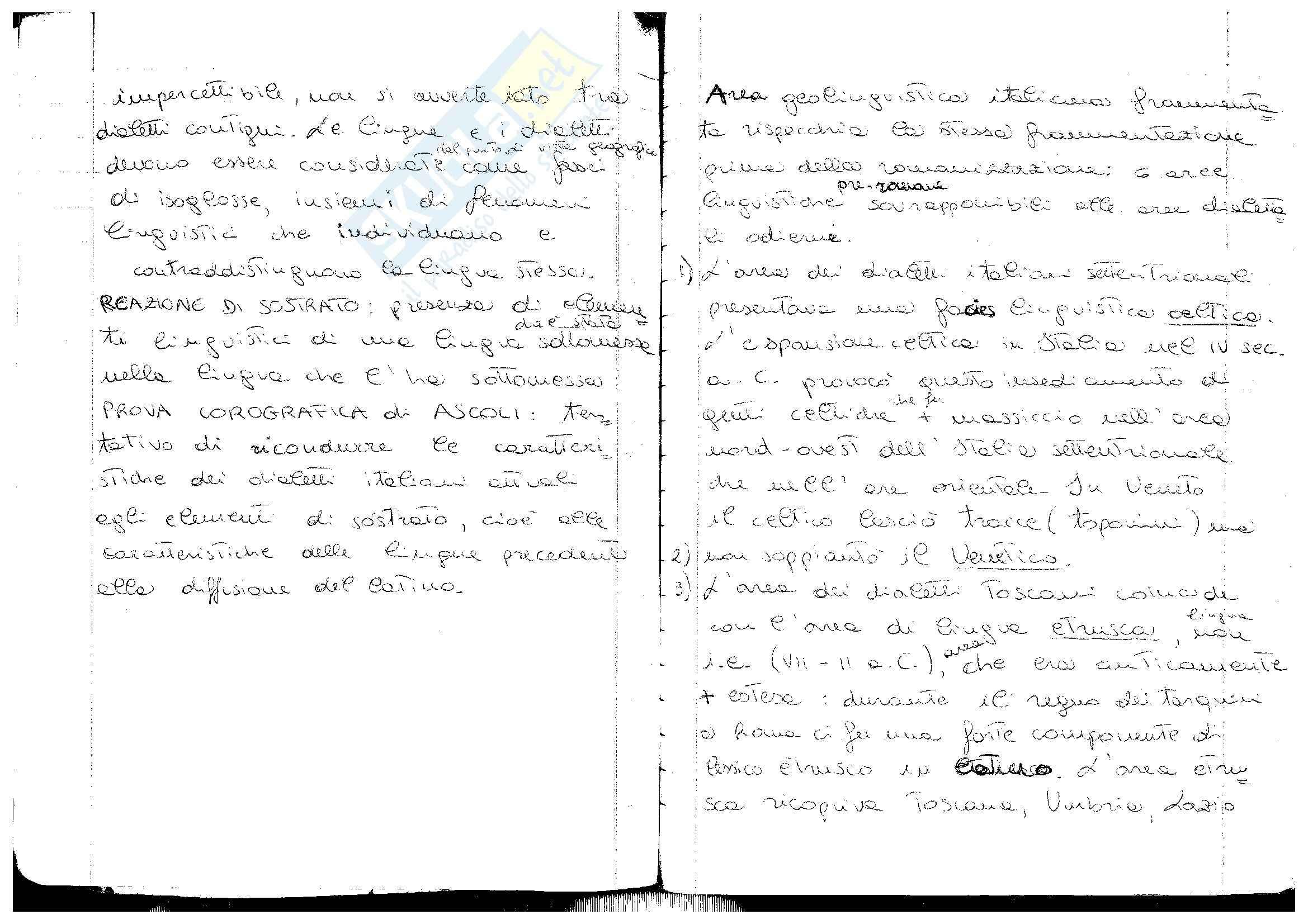 Aree linguistiche pre-romane in Italia