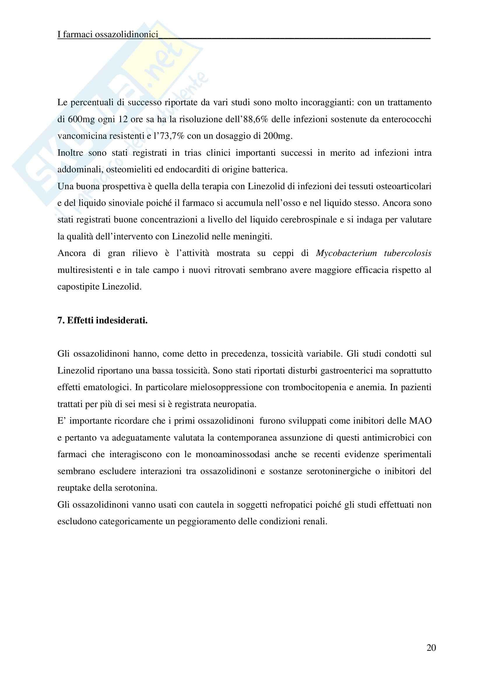 Chimica farmaceutica - ossazolidinonici Pag. 21