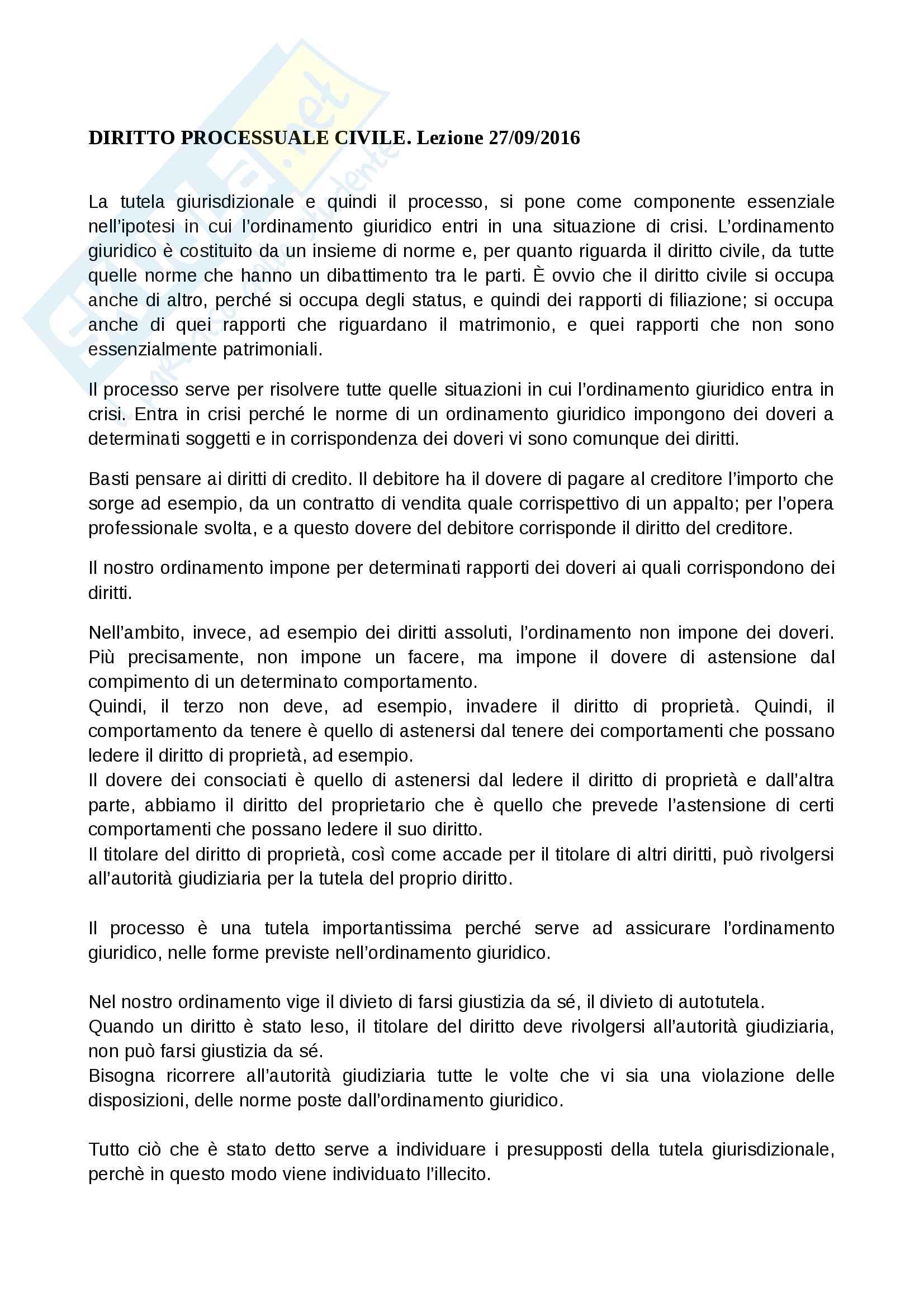 appunto F. Montaldo Diritto processuale civile