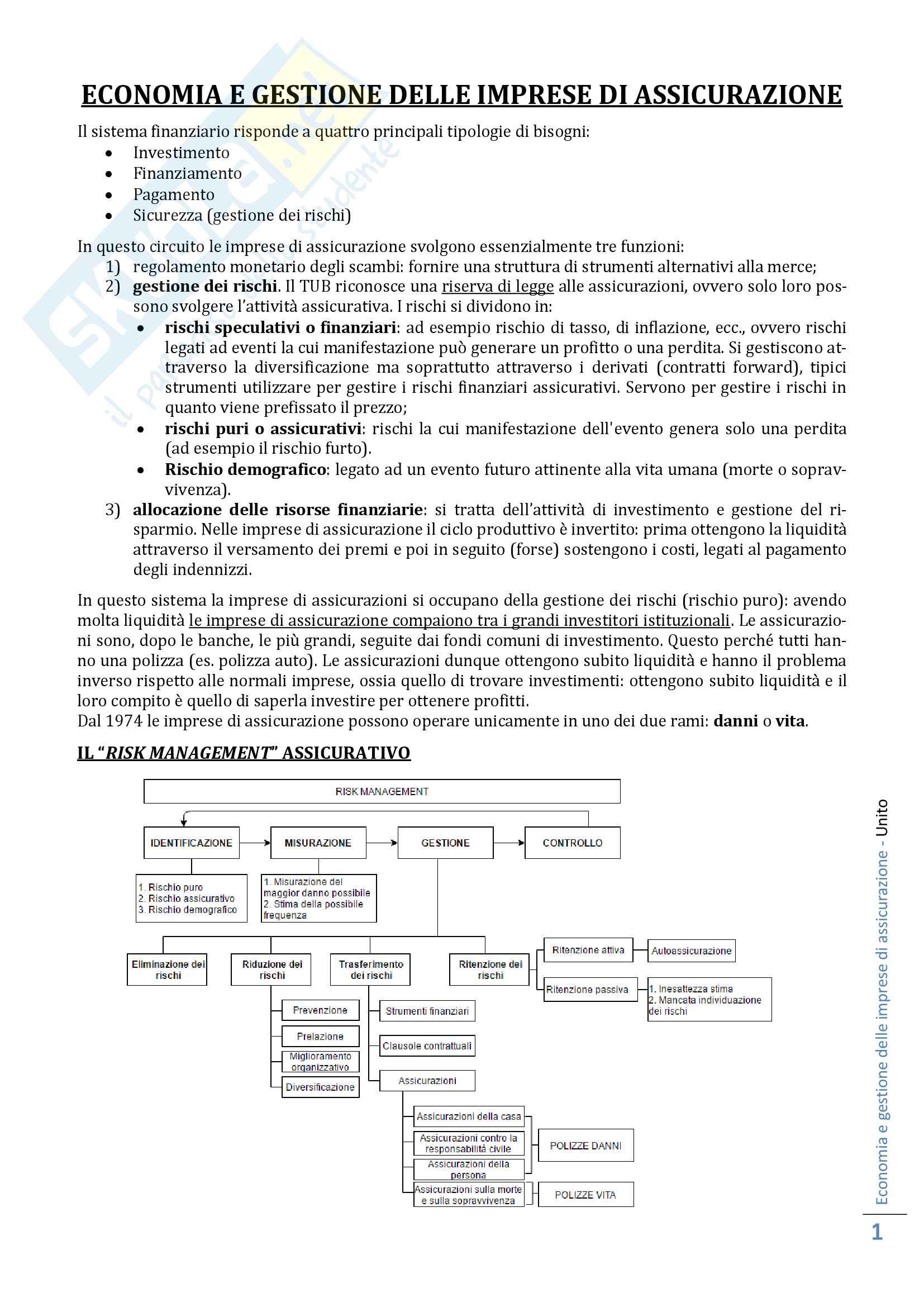 Economia e gestione delle imprese di assicurazione