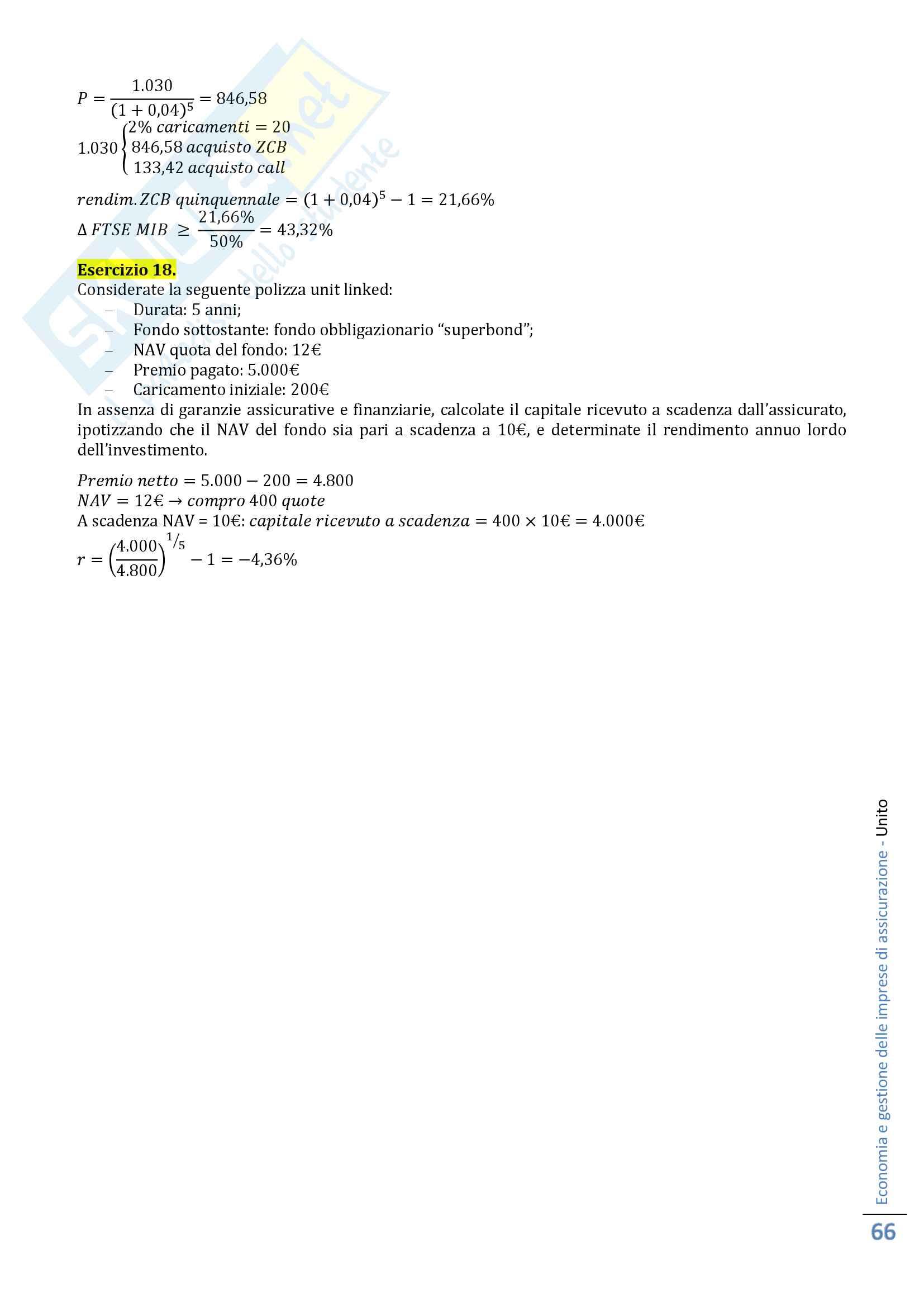 Economia e gestione delle imprese di assicurazione Pag. 66