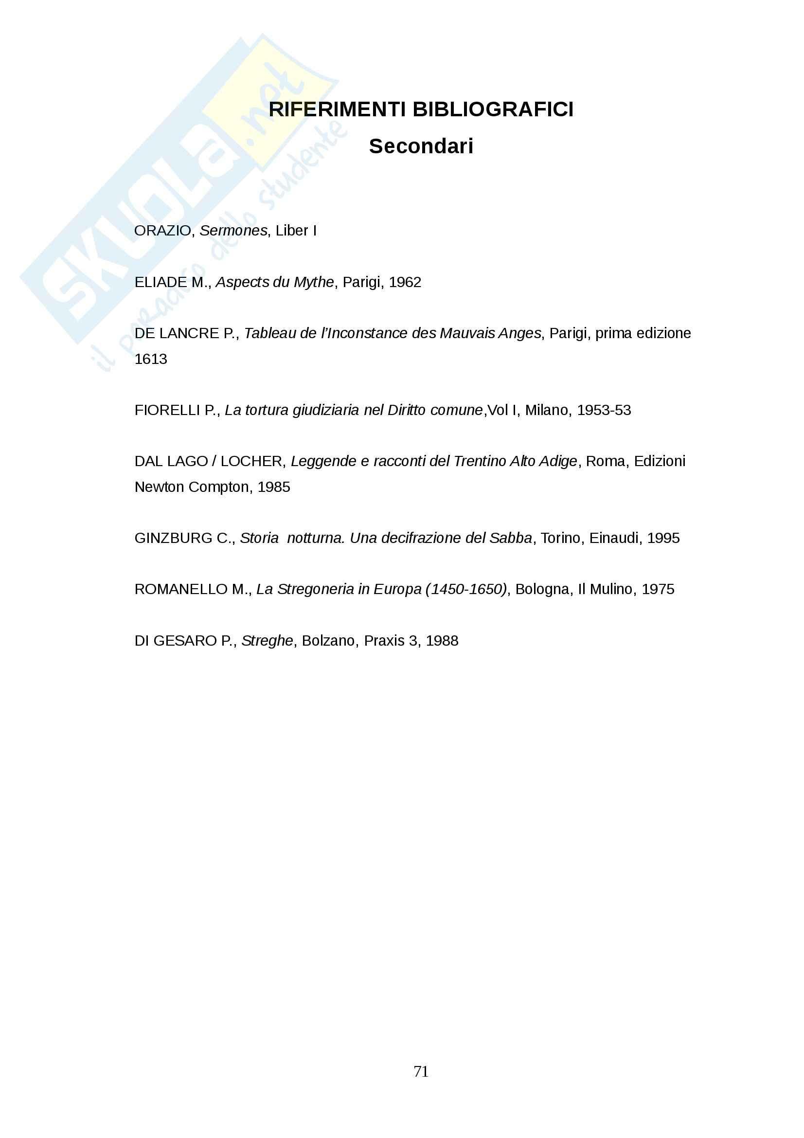 Tesi - Stregoneria Pag. 71