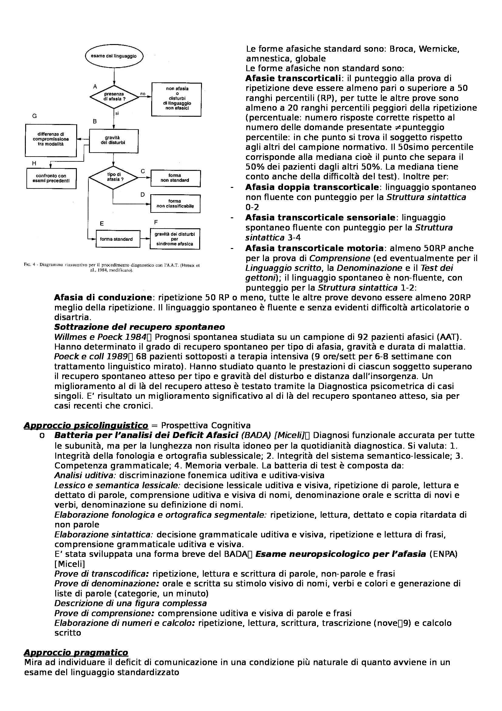 Riassunto esame Neuropsicologia sperimentale, prof. Luzzatti Pag. 21