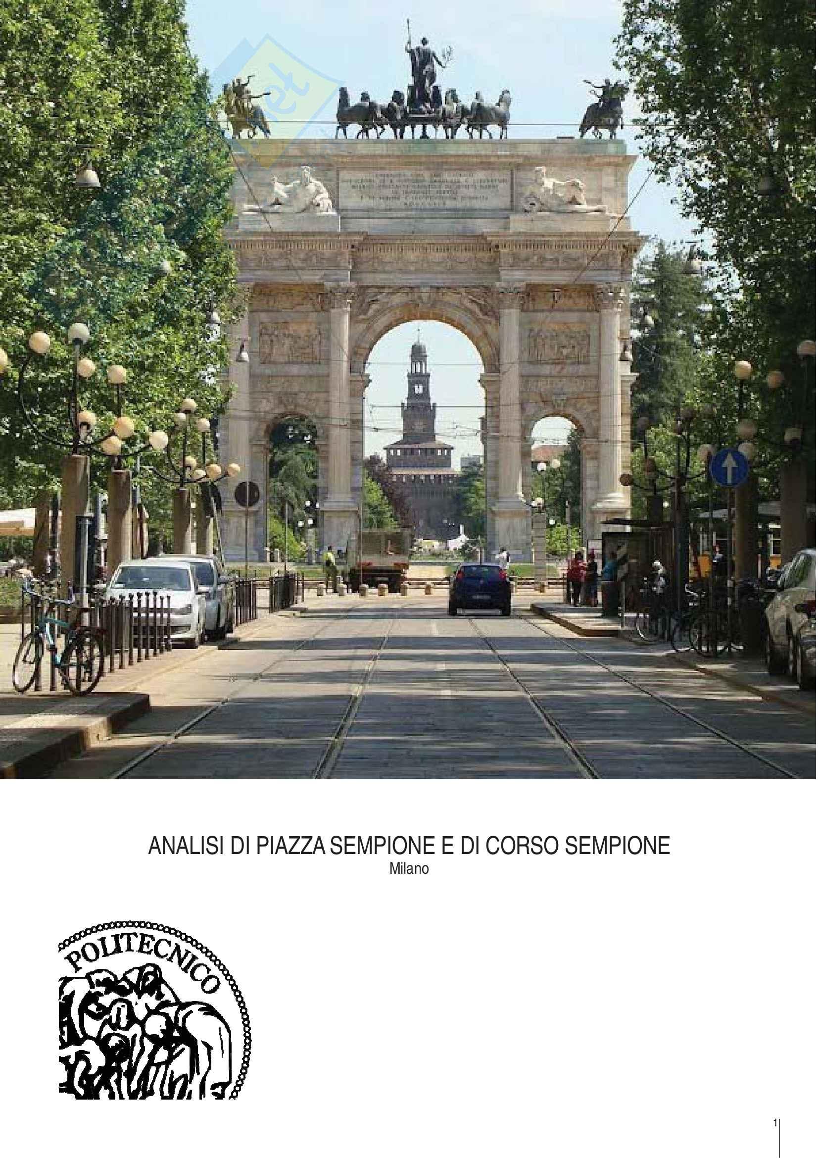 Analisi urbana di Piazza Sempione e Corso Sempione a Milano