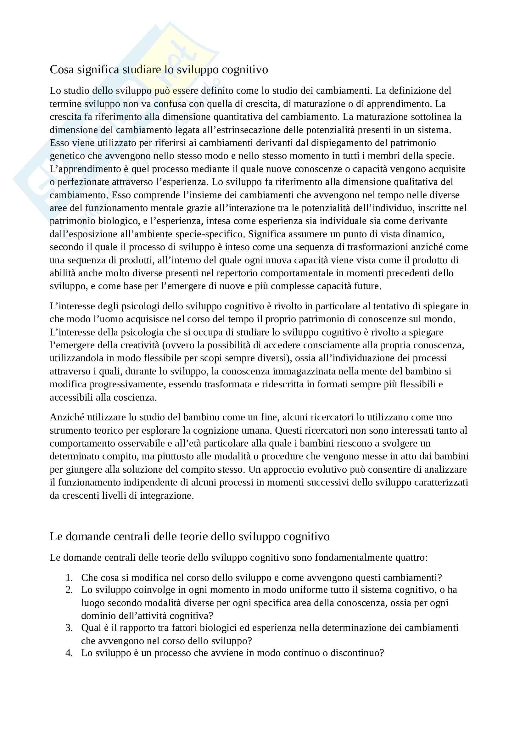 Psicologia dello sviluppo: le domande centrali delle teorie dello sviluppo