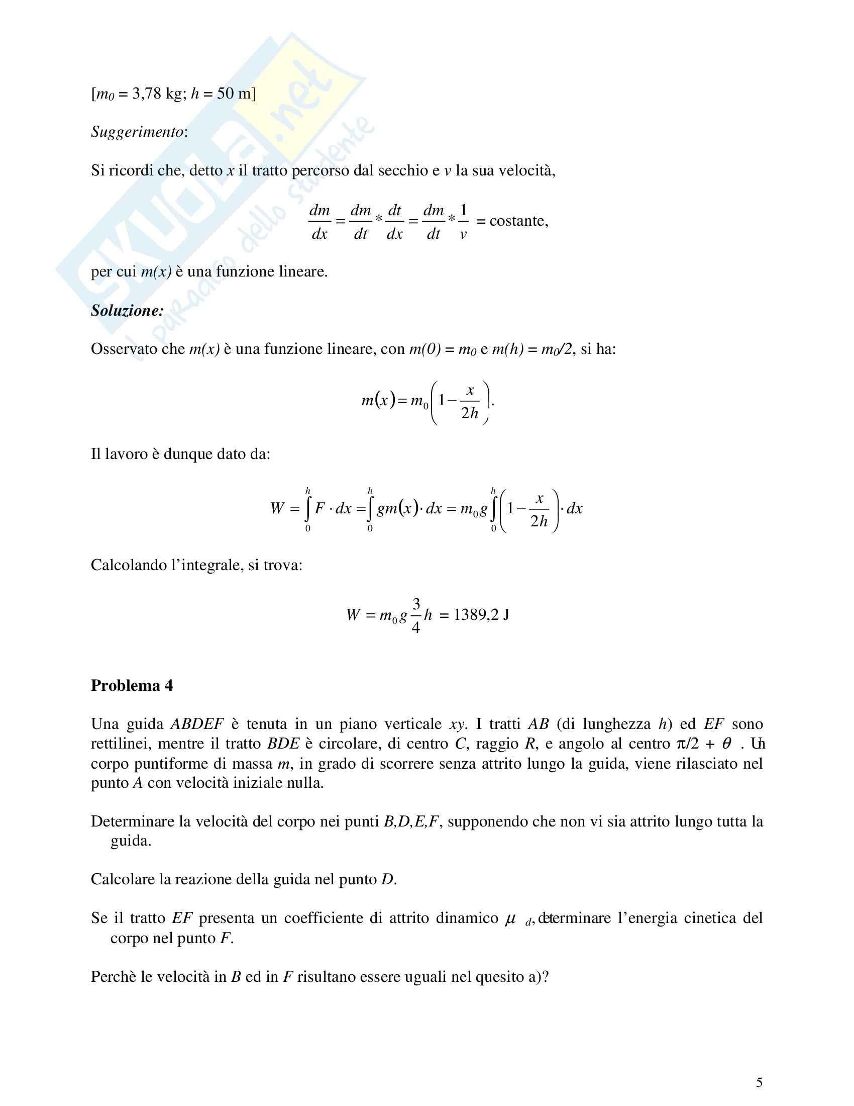 Risoluzione problemi di fisica Pag. 31