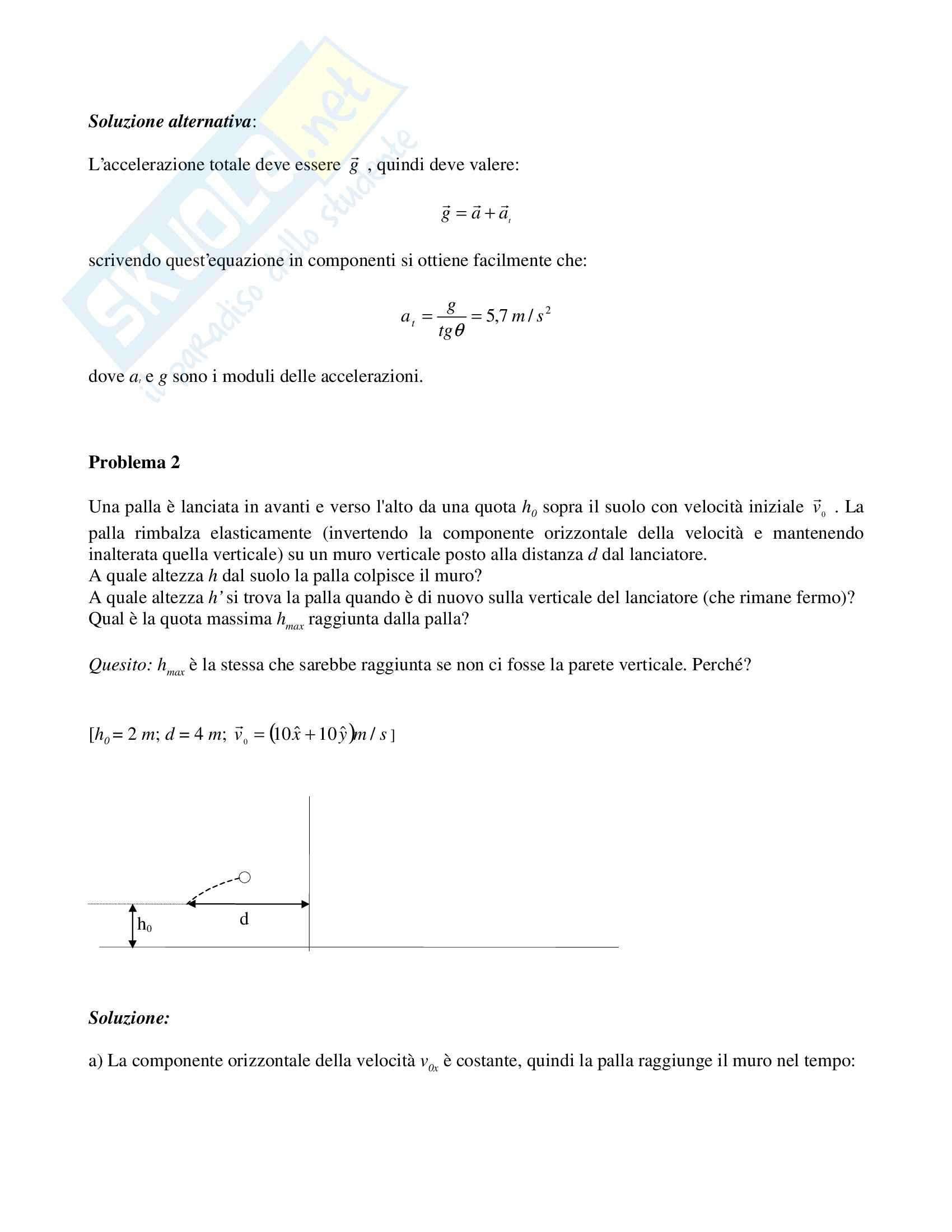 Risoluzione problemi di fisica Pag. 6