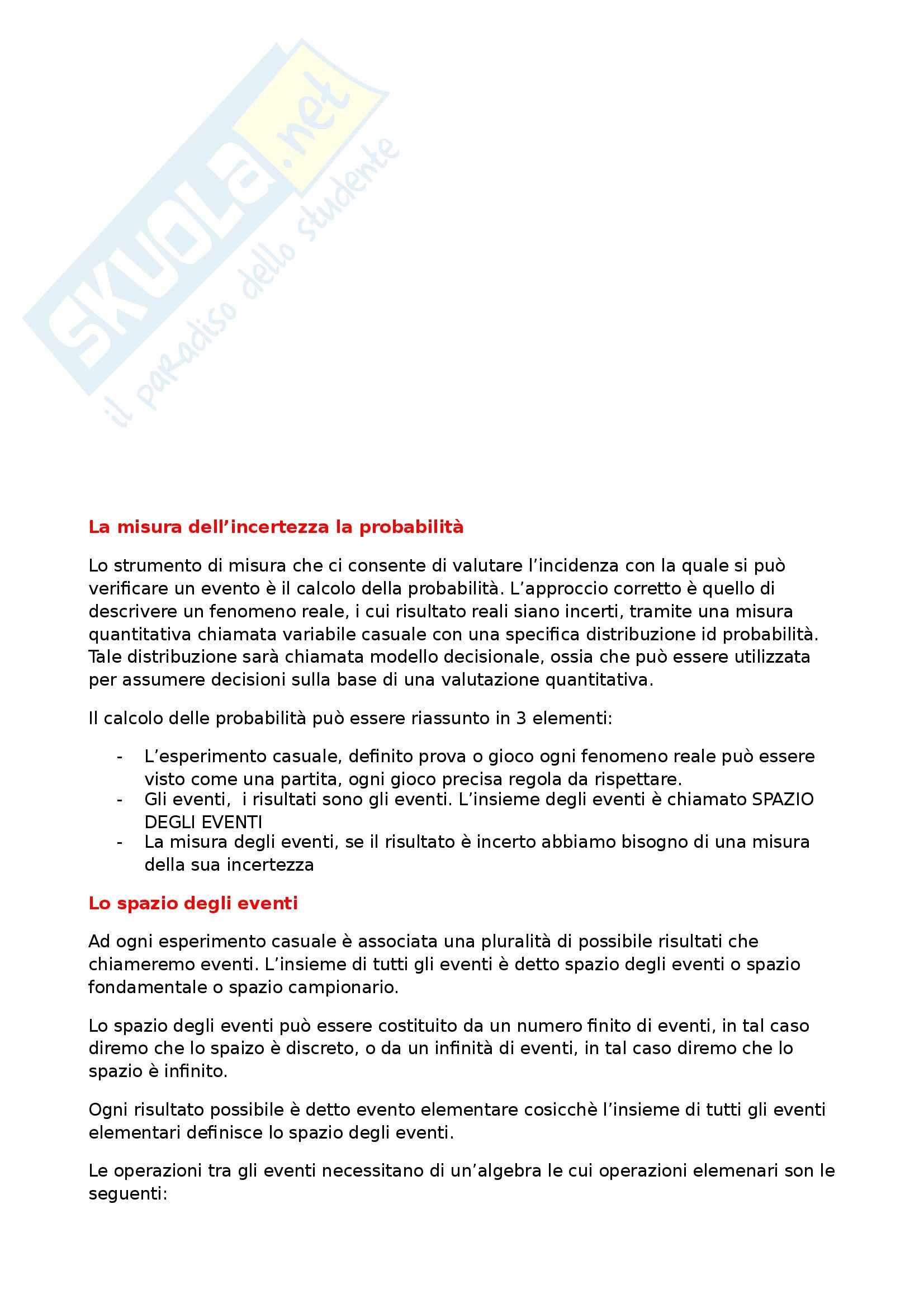 Riassunto esame Statistica, prof. Di Battista Pag. 2