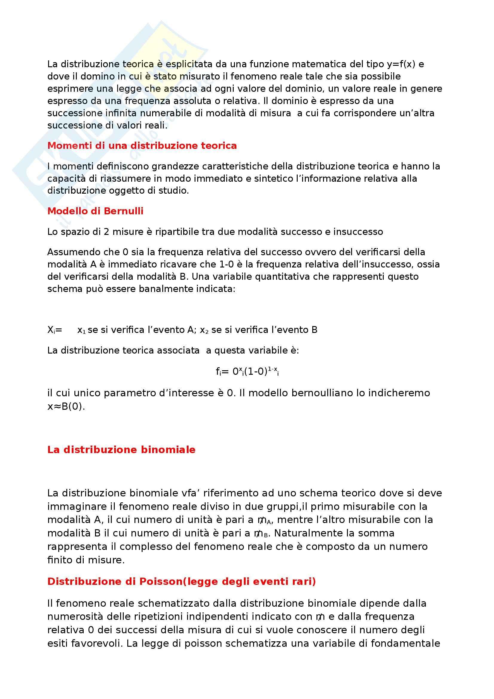 Riassunto esame Statistica, prof. Di Battista Pag. 6