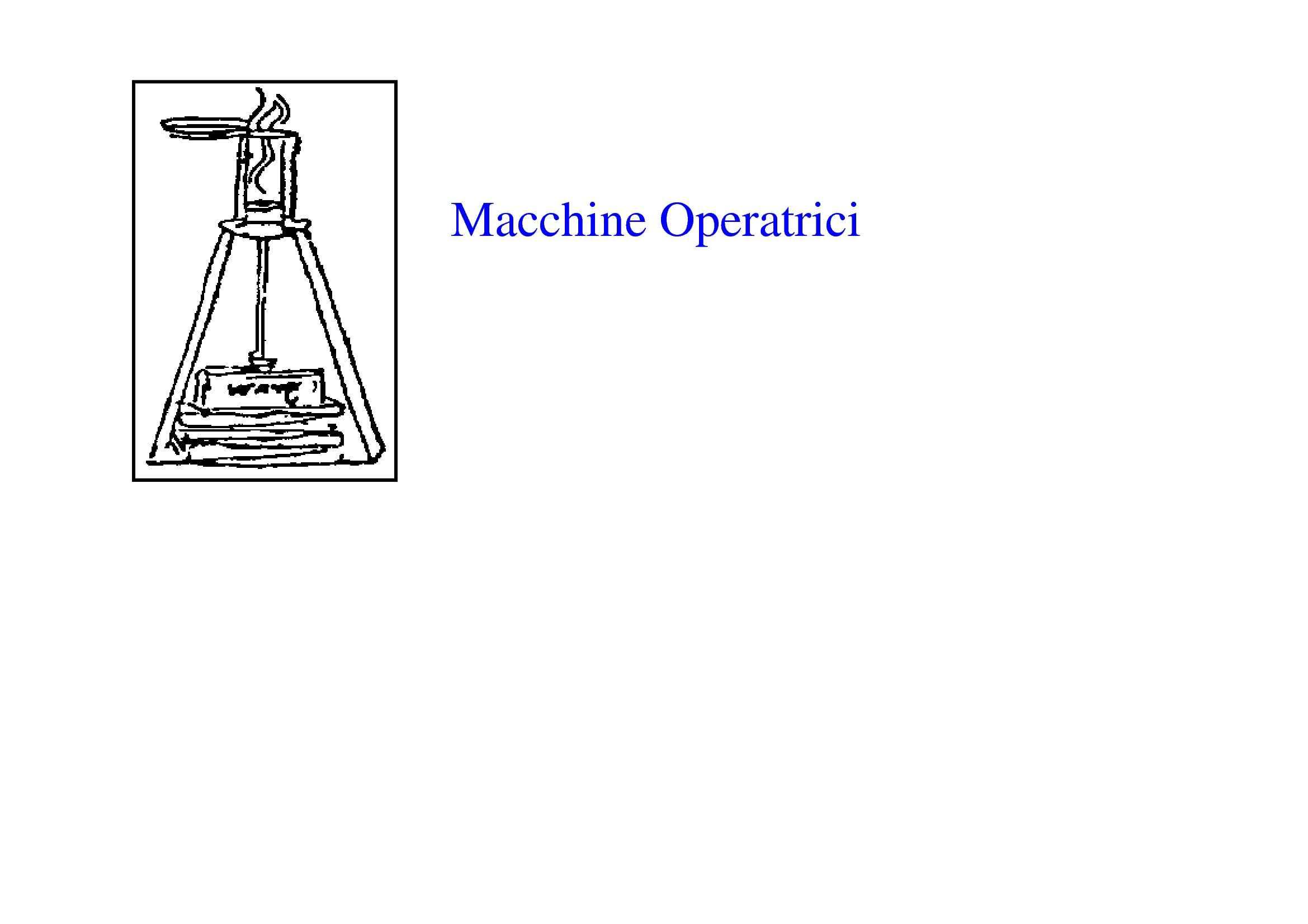 Turbomacchine - Macchine operatrici